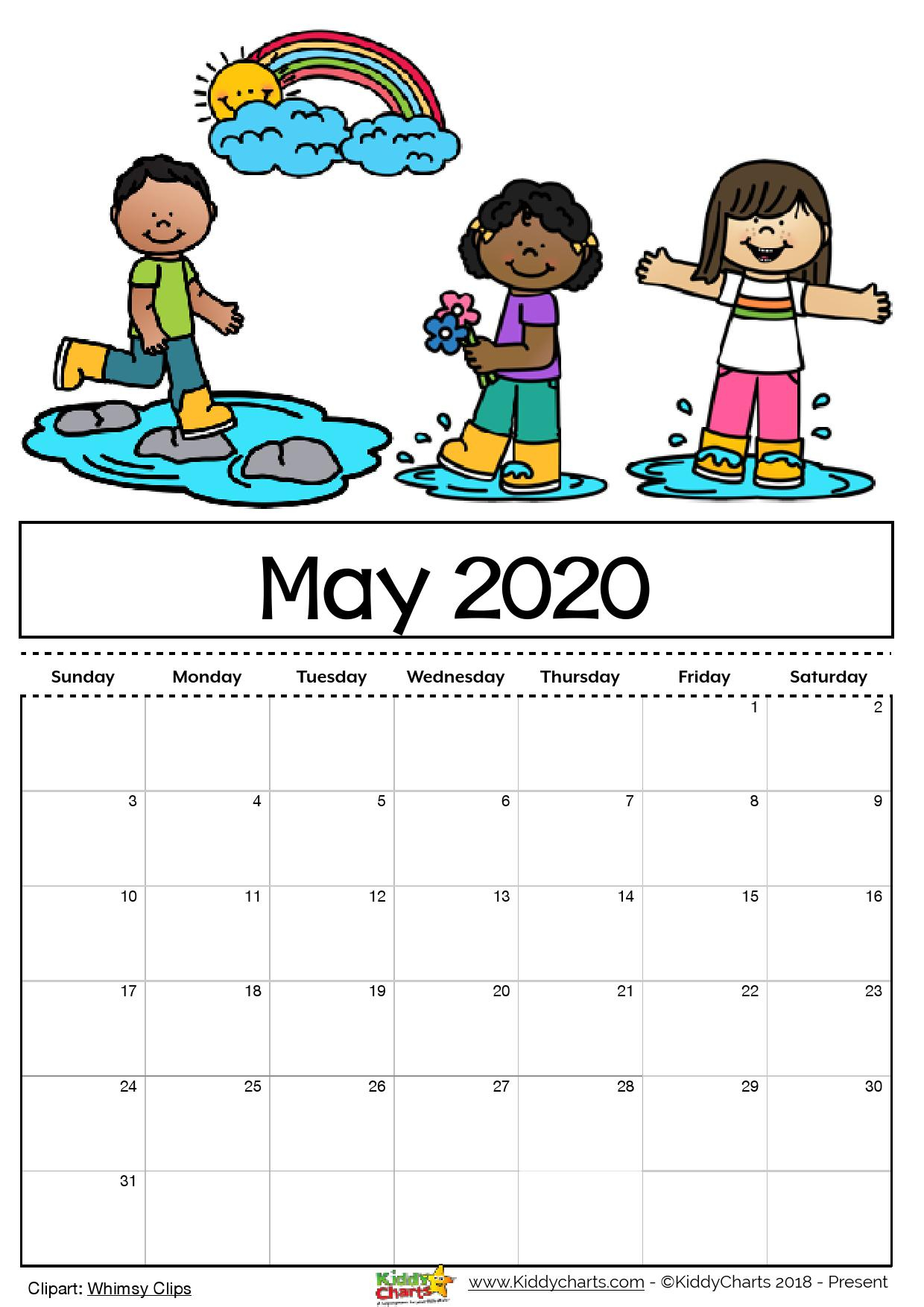 Free Printable 2020 Calendar For Kids, Including An Editable Version within 2020 Free Printable Coloring Calendar