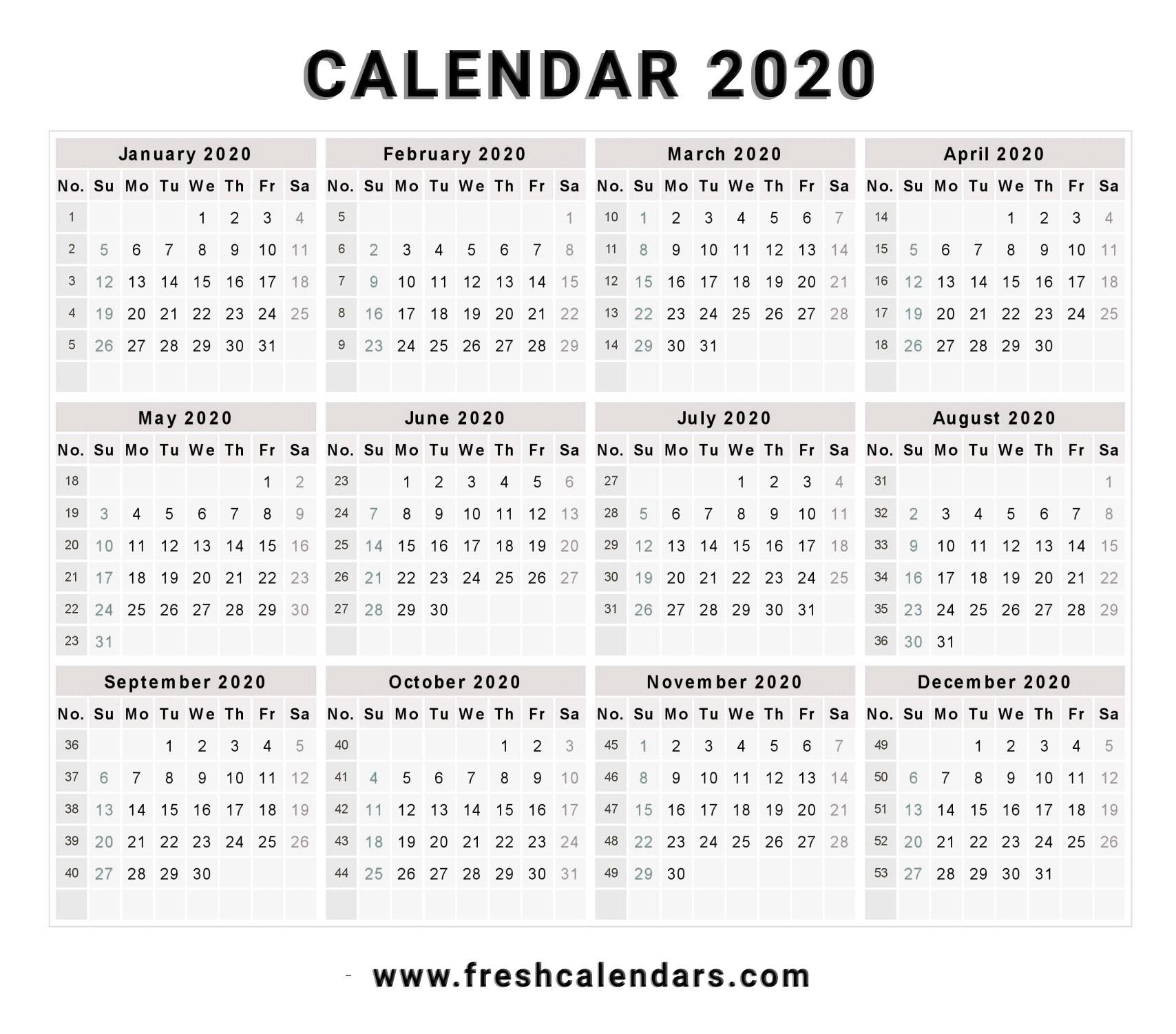 Free Printable 2020 Calendar With Holidays 16 - Crearphpnuke for 2020 Vertex Calendars Printable Free