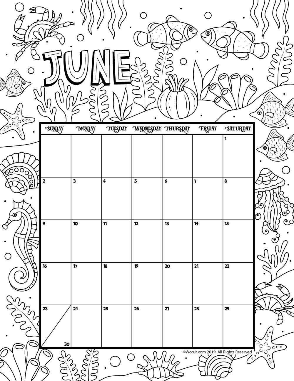 Free Printable Adult October Calendar 2019 Coloring Sheets with Free Printable Adult October Calendar 2019 Coloring Sheets