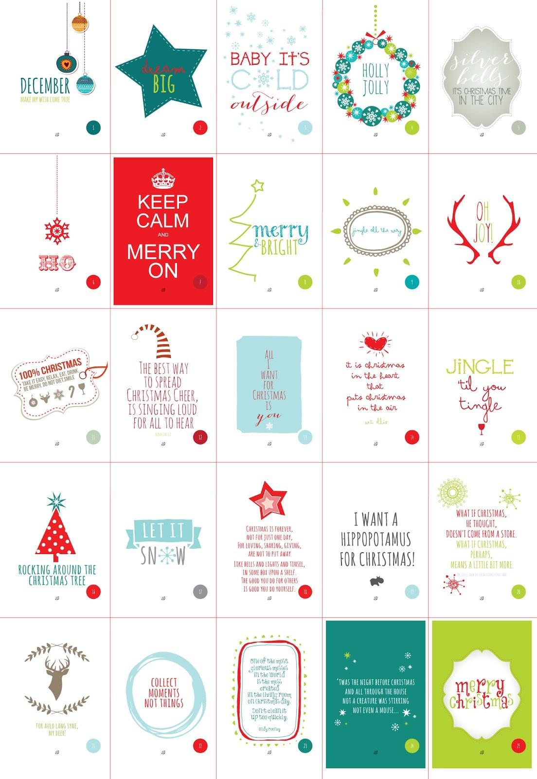 Free Printable Advent Calendar Template Advent Calendar Printable intended for Christmas Calendar Printable Template