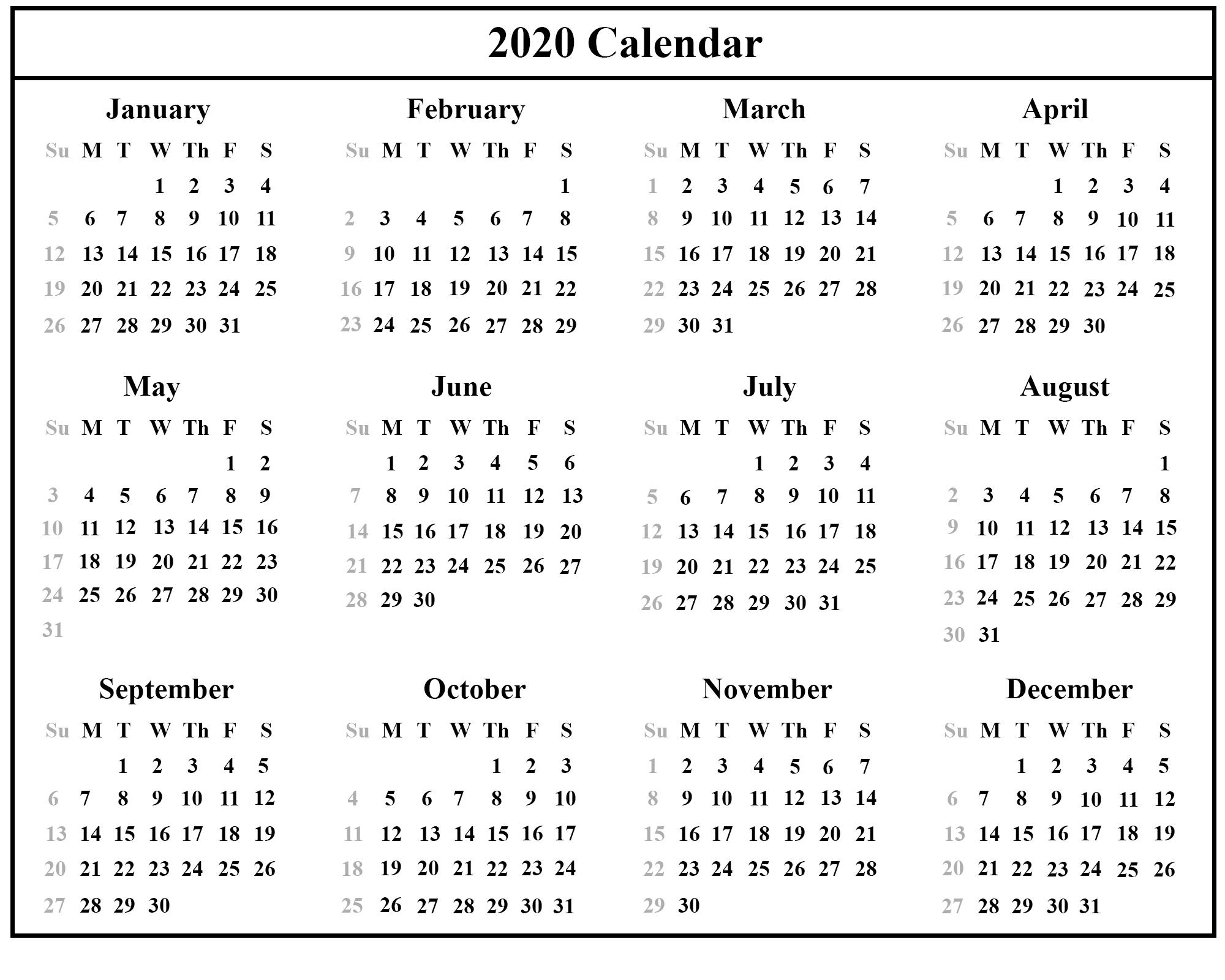 Free Printable Australia Calendar 2020 In Pdf, Excel & Word Format in 2020 Calendar Printable Free Pdf