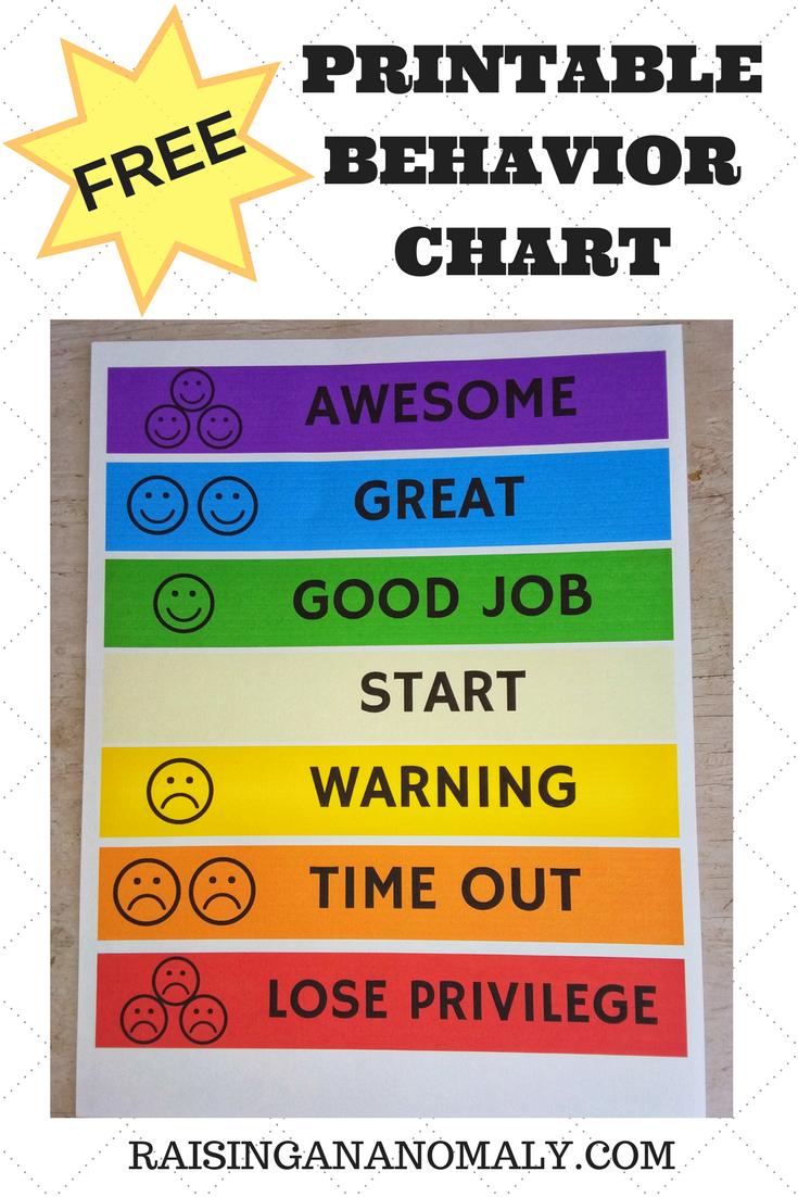 Free Printable Behavior Charts | Room Surf regarding Free Printable Behavior Chart Templates