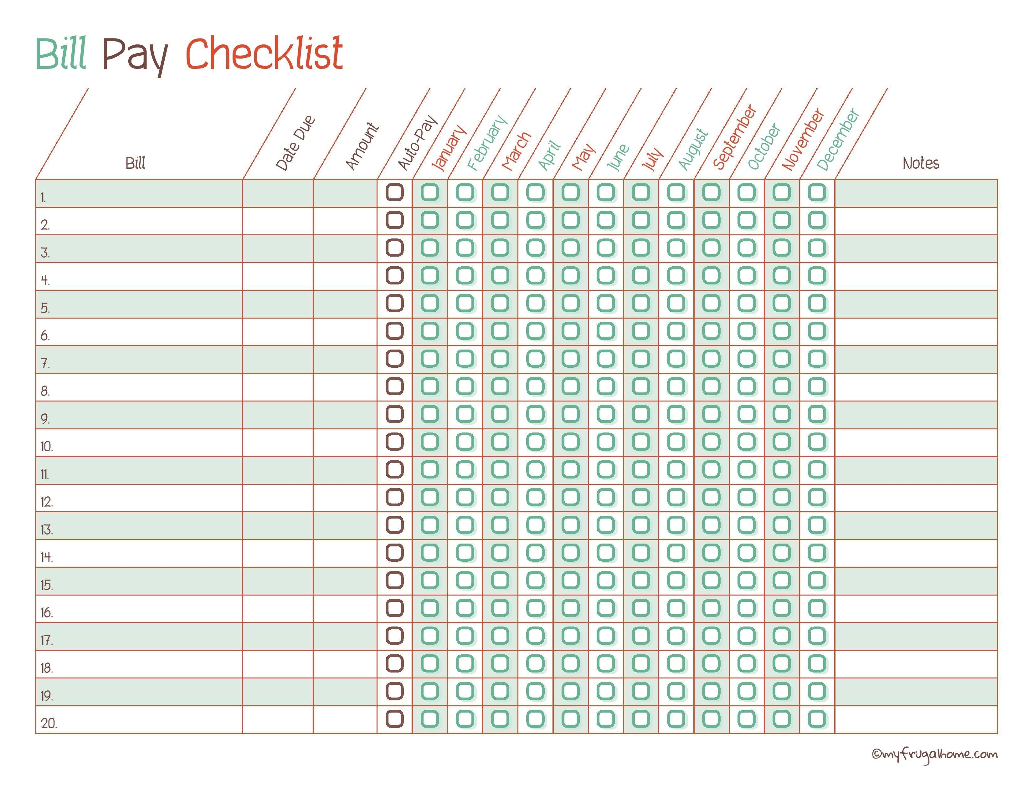 Free Printable Bill Organizer Monthly Bill Pay | Calendar Printing regarding Printable Monthly Calendar Templates Bills