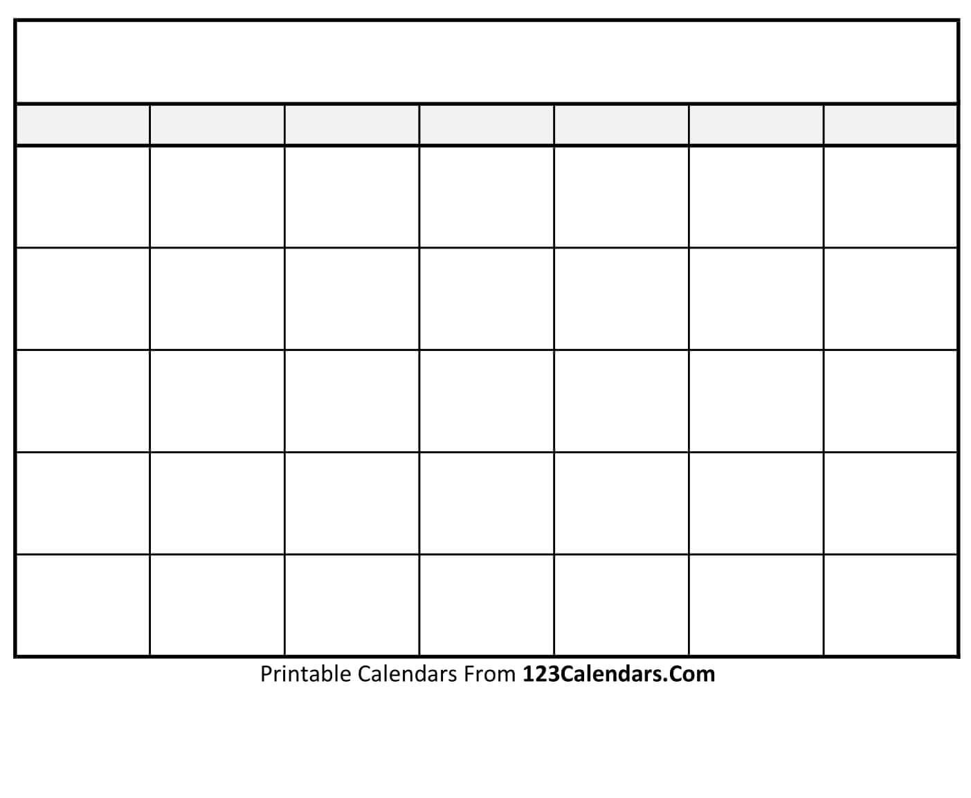 Free Printable Blank Calendar   123Calendars with Blank Calendar Template With Lines