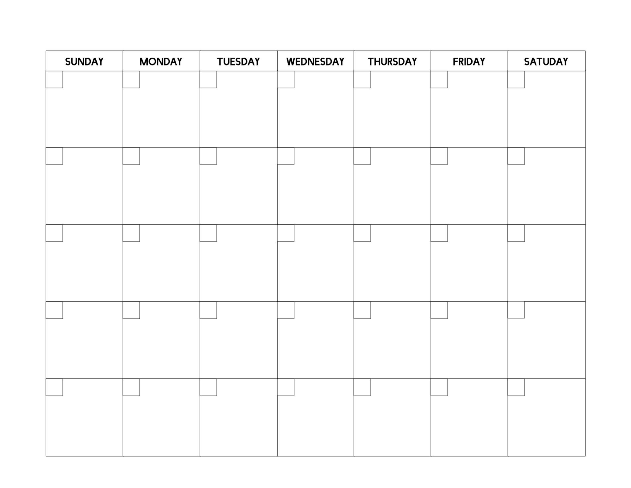 Free Printable Blank Calendar Template - Paper Trail Design within Free Printable Blank Calendars To Fill In