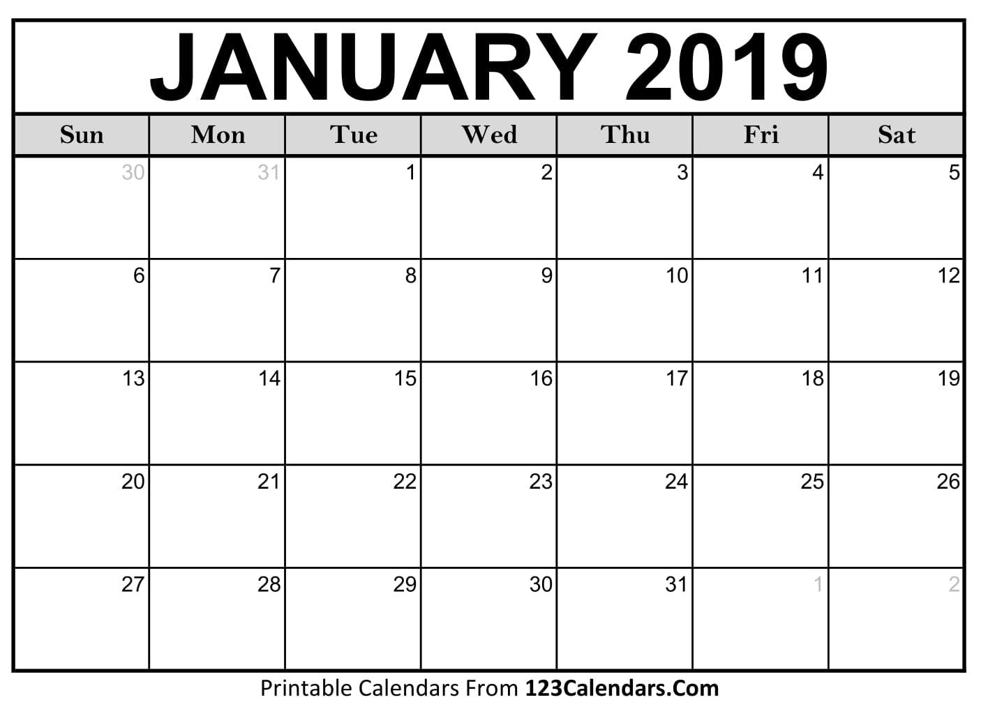Free Printable Calendar | 123Calendars with regard to Calendar For 2019 And 2020 To Edit
