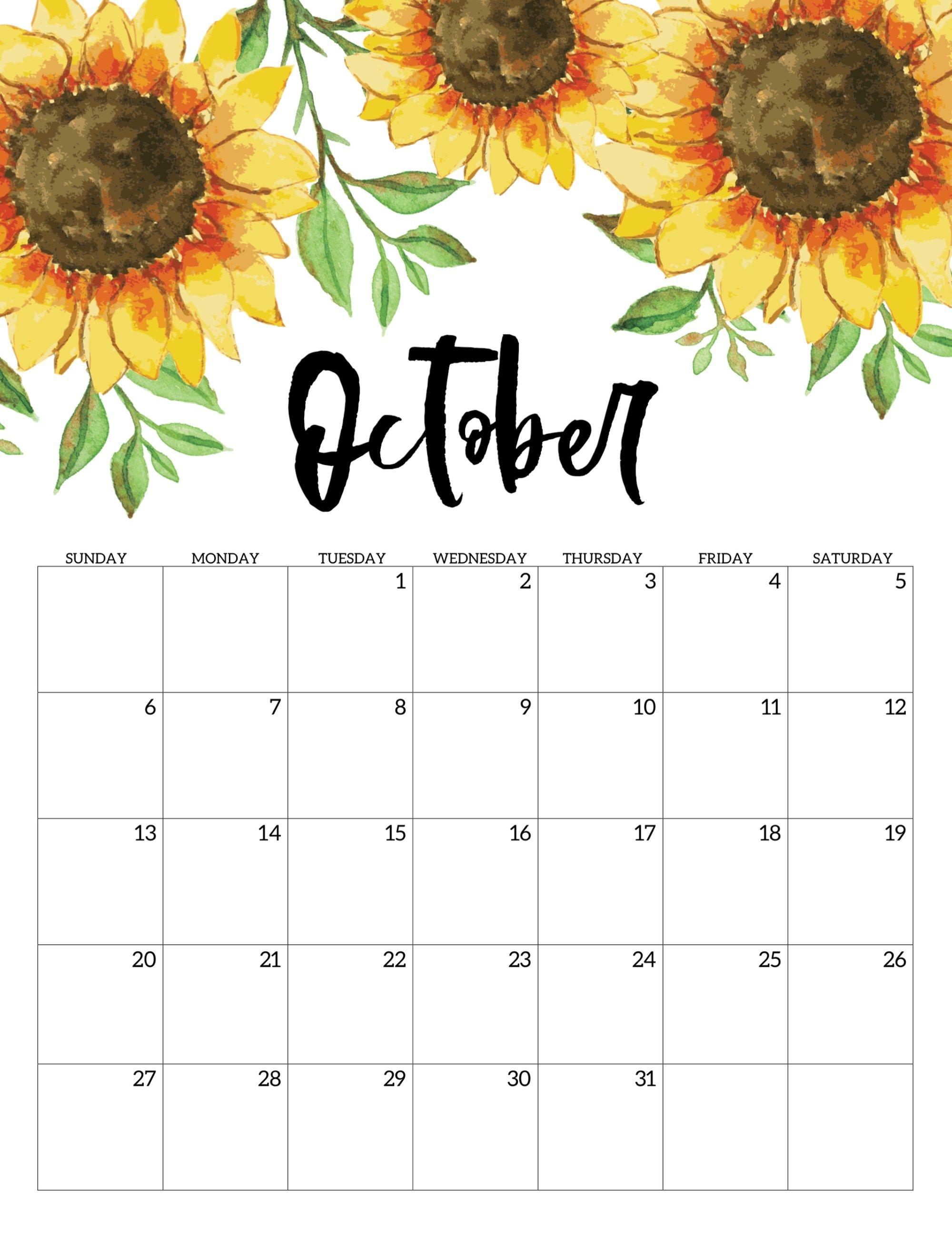 Free Printable Calendar 2019 - Floral   Calendar   Calendar 2019 regarding 2019 2020 Girly Calendar Printable