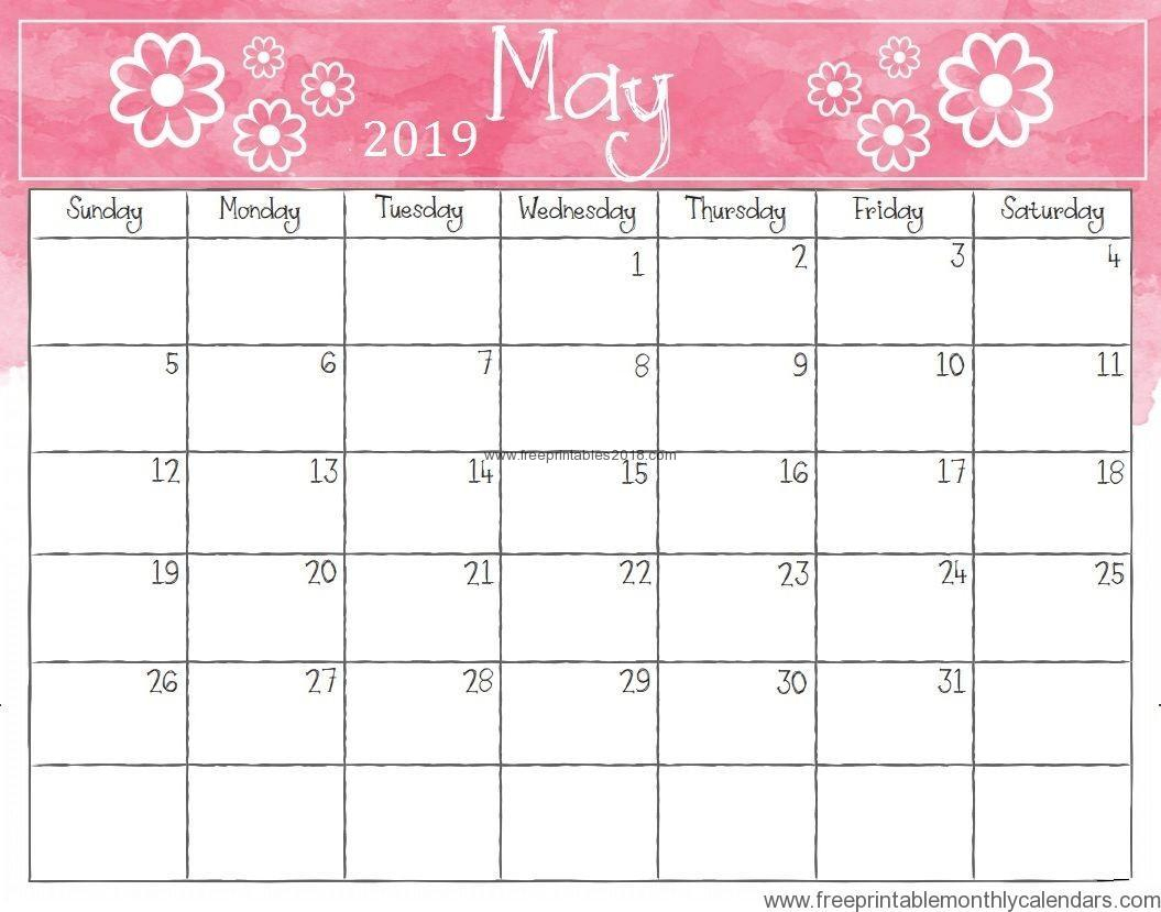 Free Printable Calendar May 2019 Fancy Template | Free Printables 2019 in Fancy August Printable Calendar Template