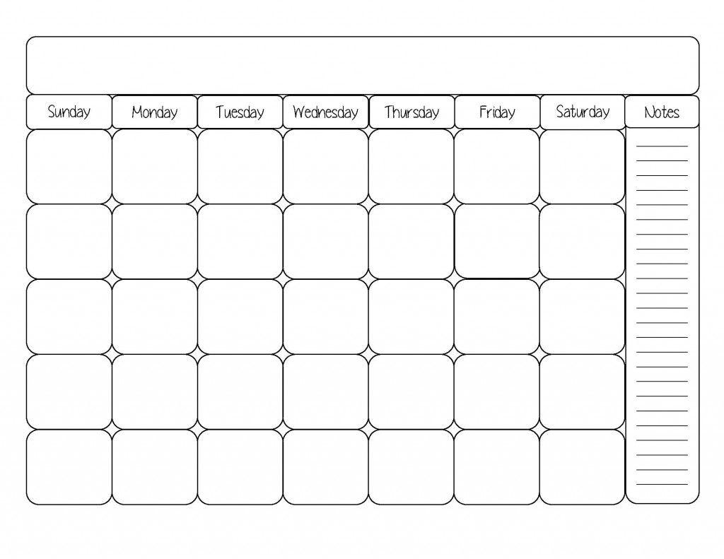 Free Printable Calendar Template   Calendars   Monthly Calendar with regard to Free Printable Blank Calendars To Fill In
