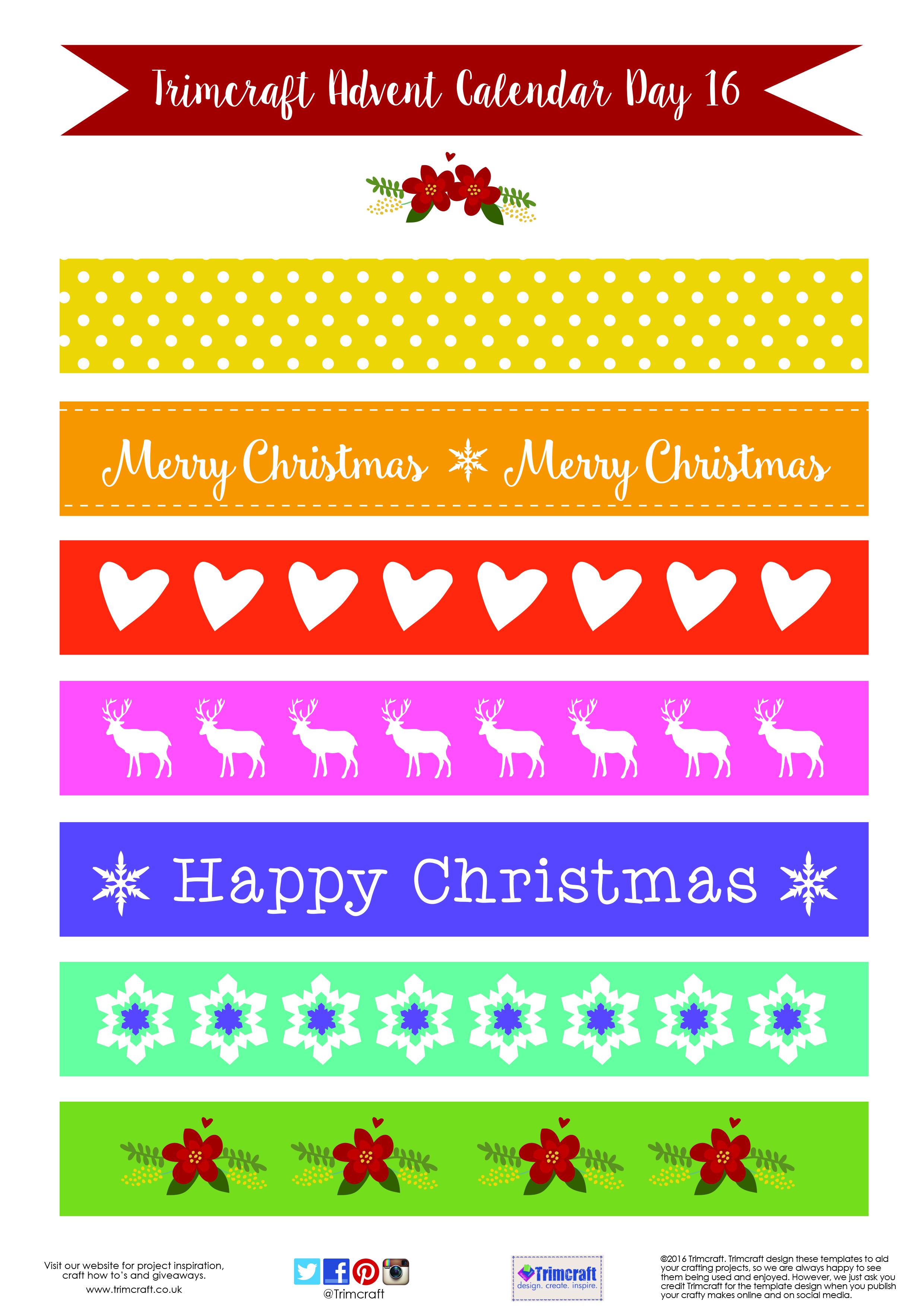 Free Printable Craft Templates | The Craft Blog within Christmas Calendar Printable Template