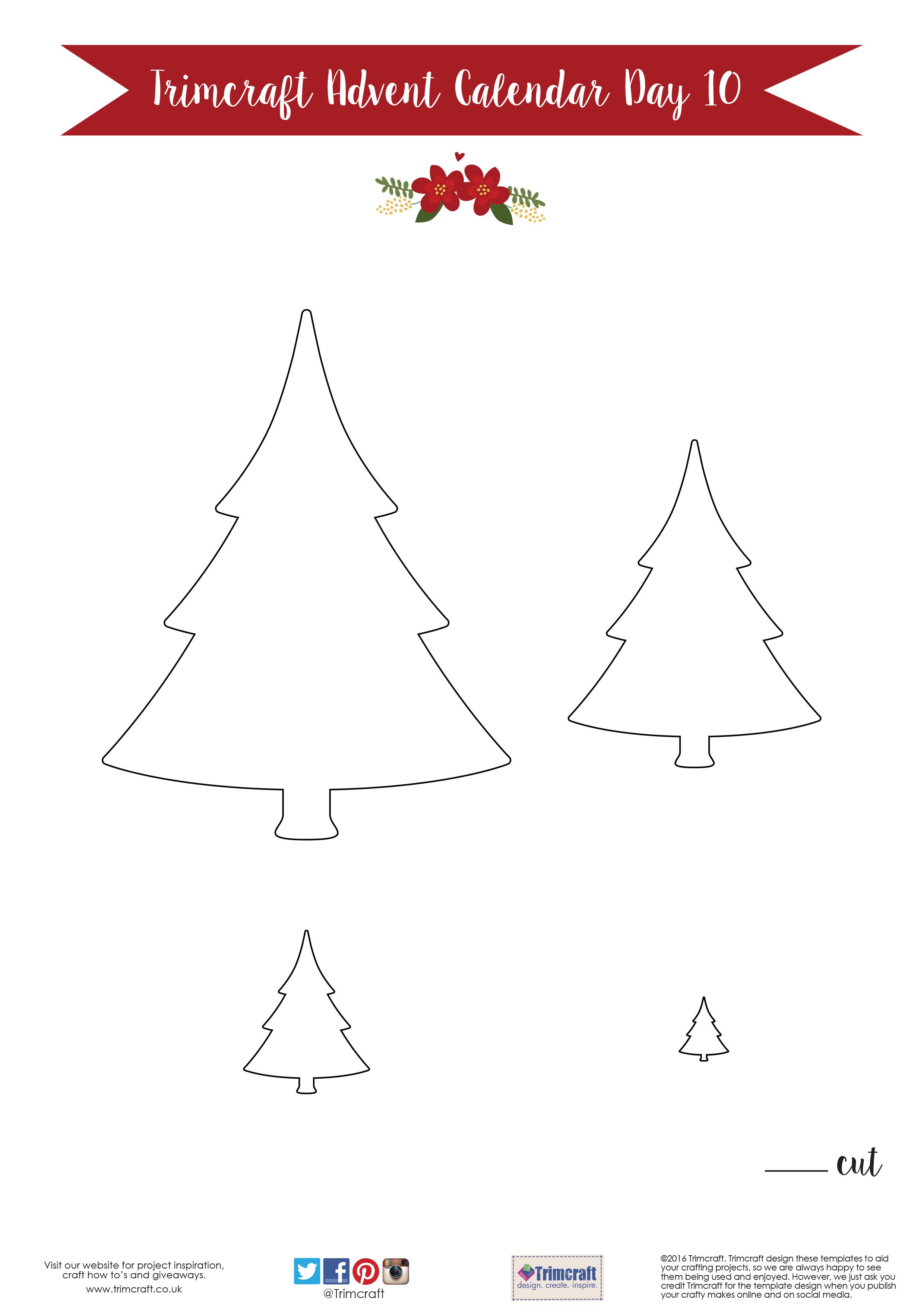 Free Printable Craft Templates | The Craft Blog within Printable Christmas Tree Templates 3D