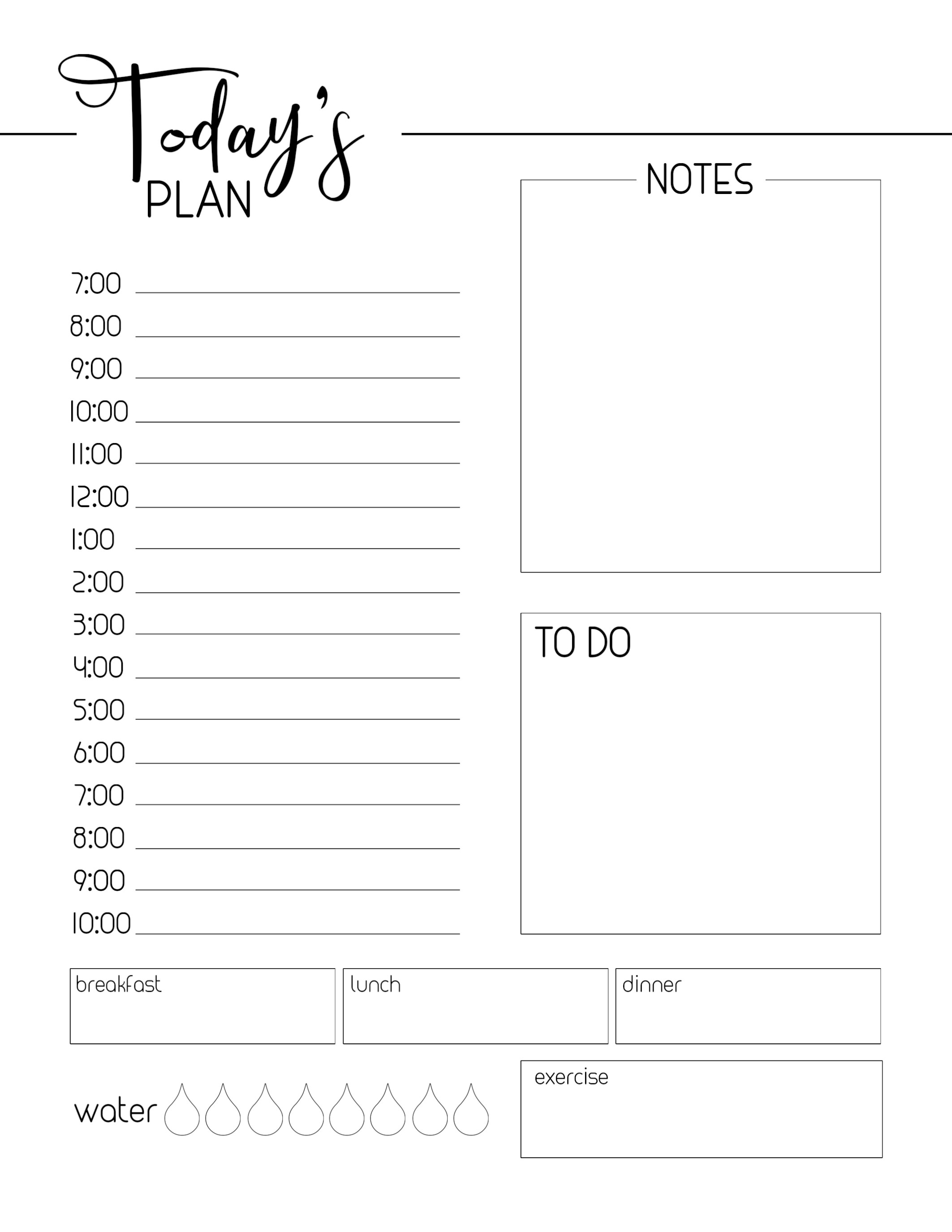 Free Printable Daily Planner Template - Paper Trail Design pertaining to Printable Daily Planner Template