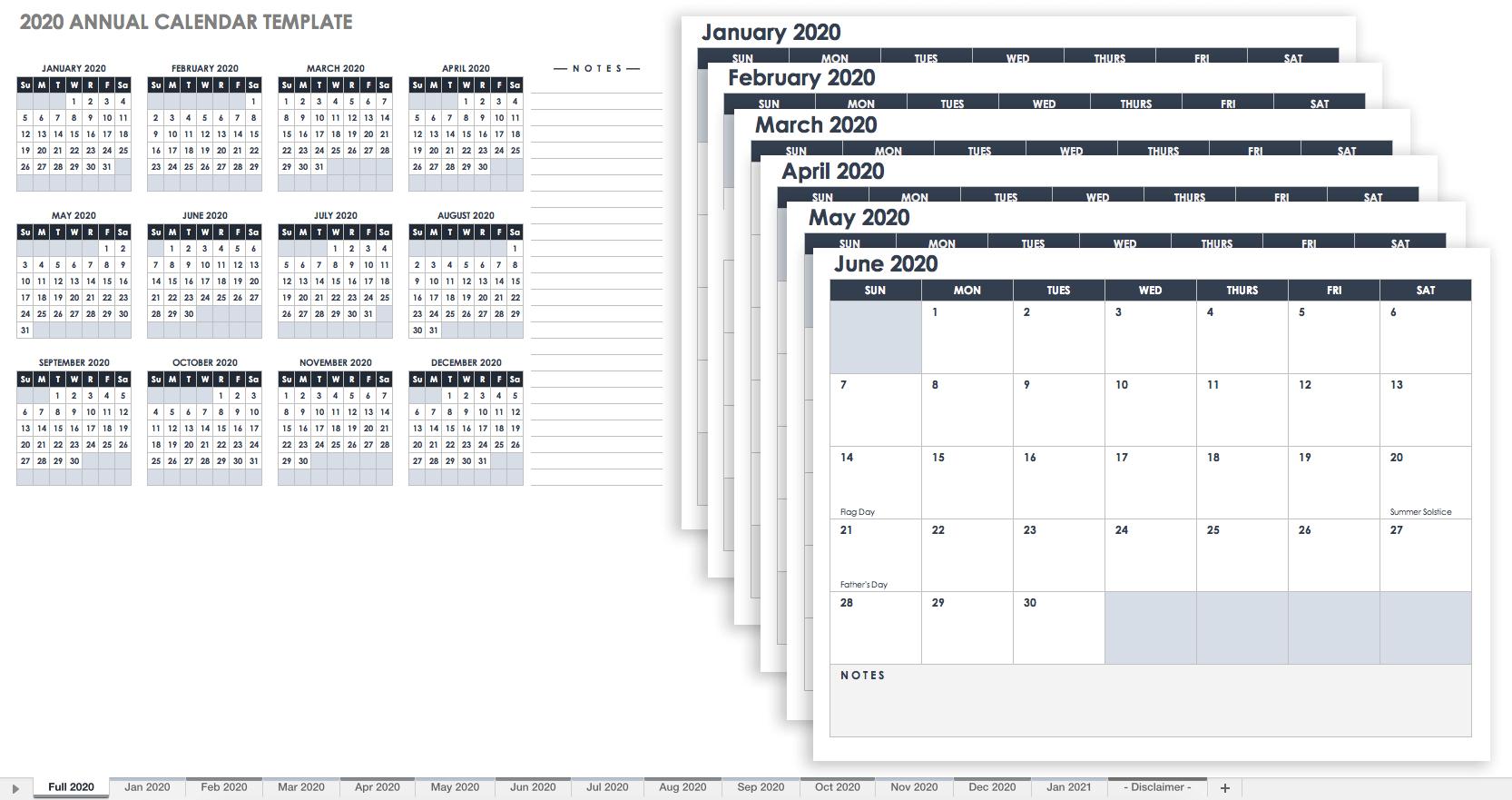 Free, Printable Excel Calendar Templates For 2019 & On | Smartsheet regarding Annual Calendar Template Excel