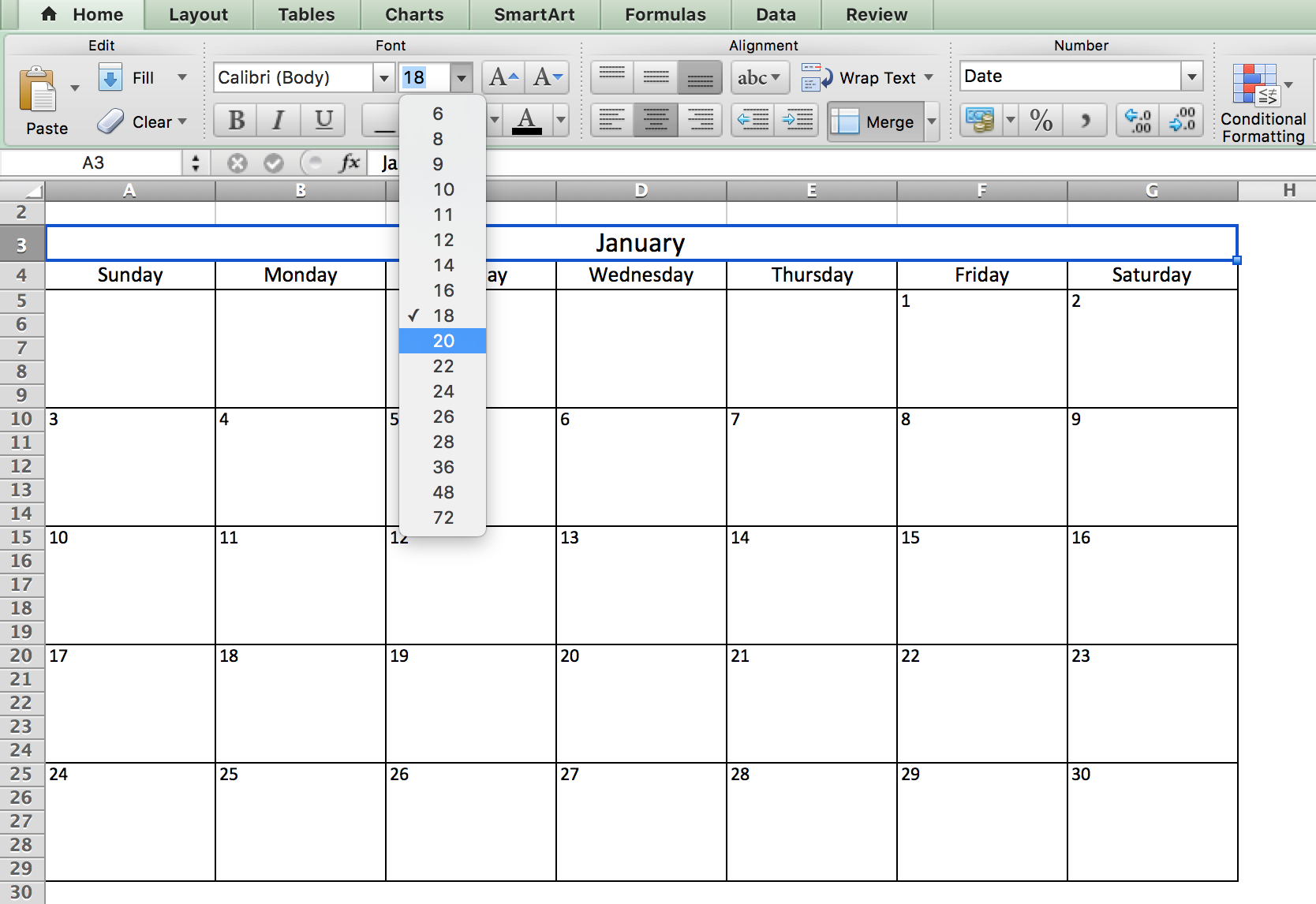 Free, Printable Excel Calendar Templates For 2019 & On | Smartsheet regarding Excel 2020 Calendar Year Formula