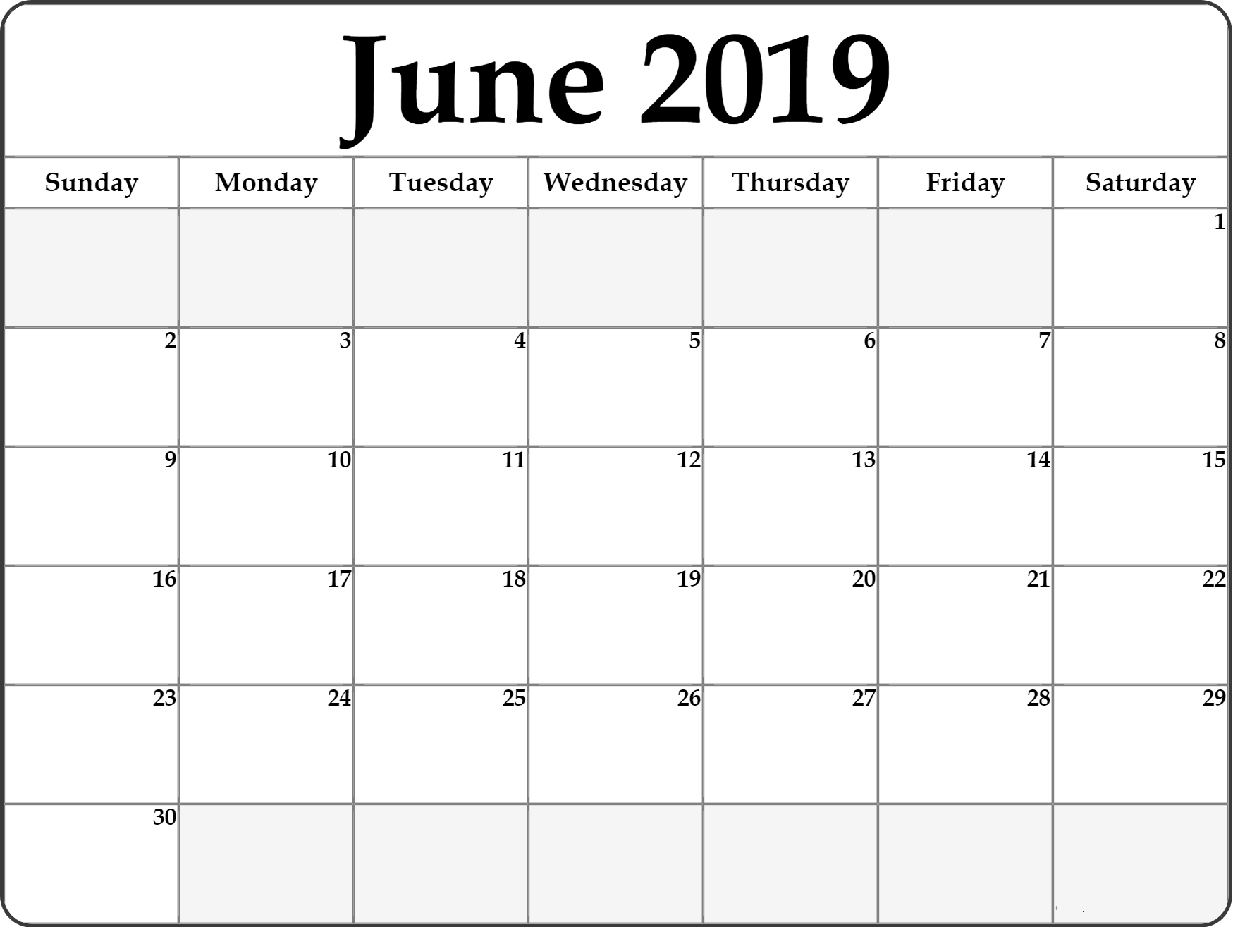 Free Printable June 2019 Calendar #portrait | June 2019 Calendar inside Free Calendar Templates Printable