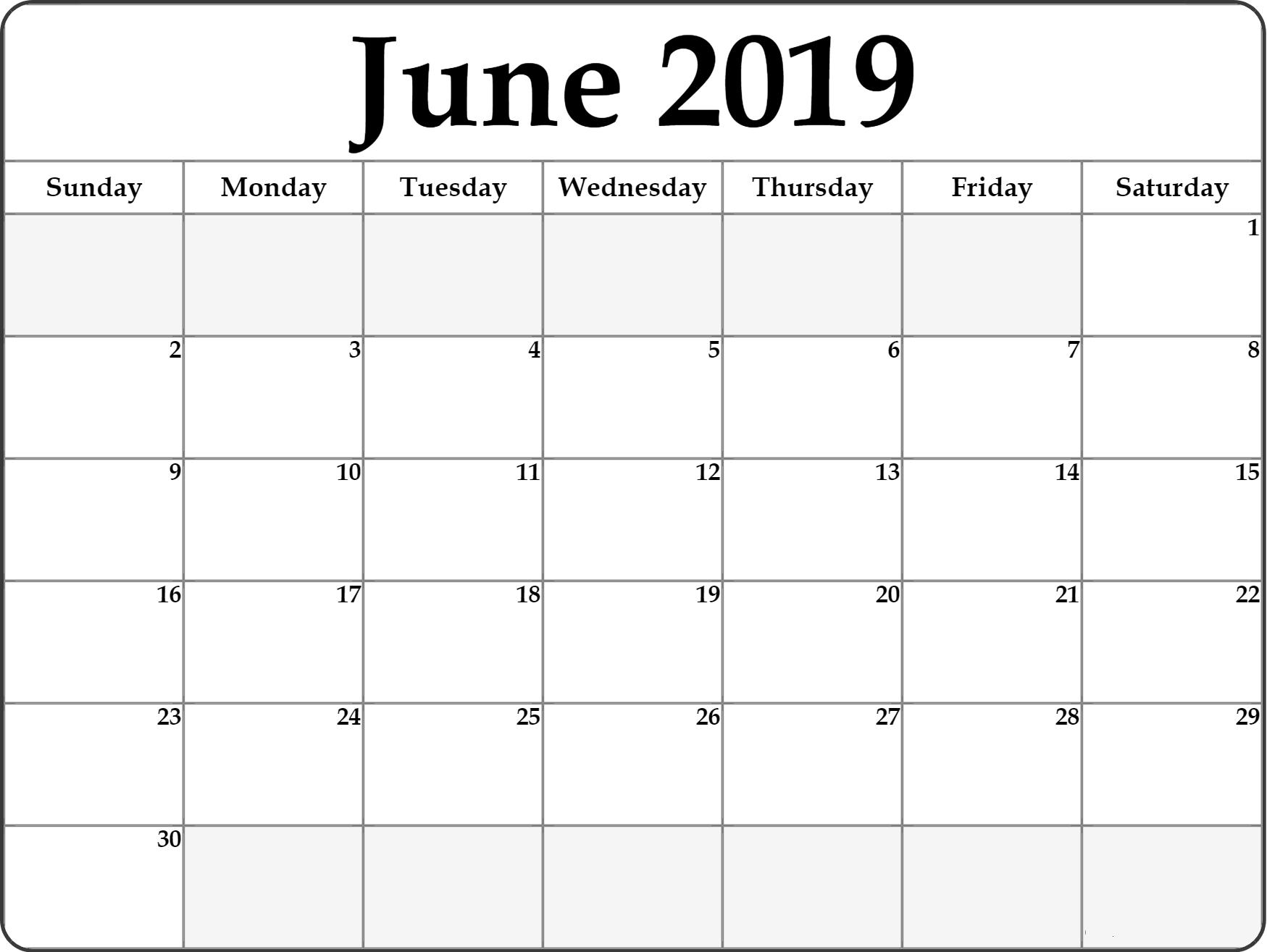 Free Printable June 2019 Calendar #portrait | June 2019 Calendar pertaining to Mini Blank June And July Calendar