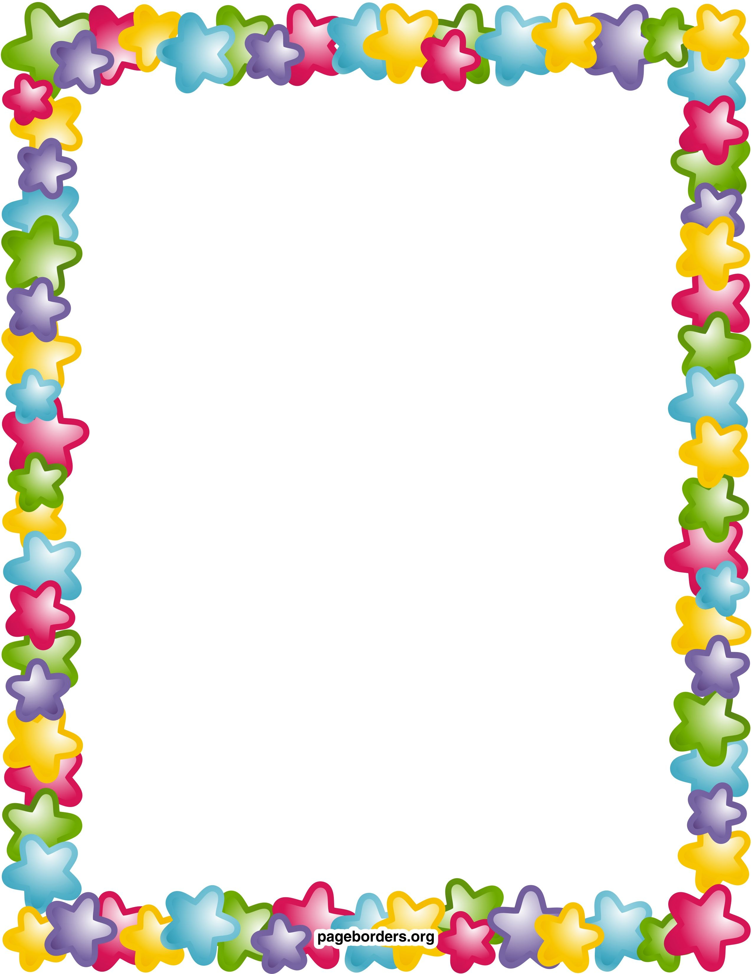 Free Printable Page Borders And Frames Image Gallery - Photonesta intended for Frame Birthday Calendar Templates Free