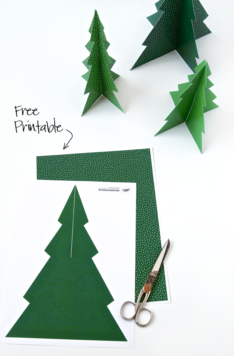 Free Printable Pine Tree Forrest | !pinned Over 5,000 Times! | 3D in Template For 3 D Christmas Trees