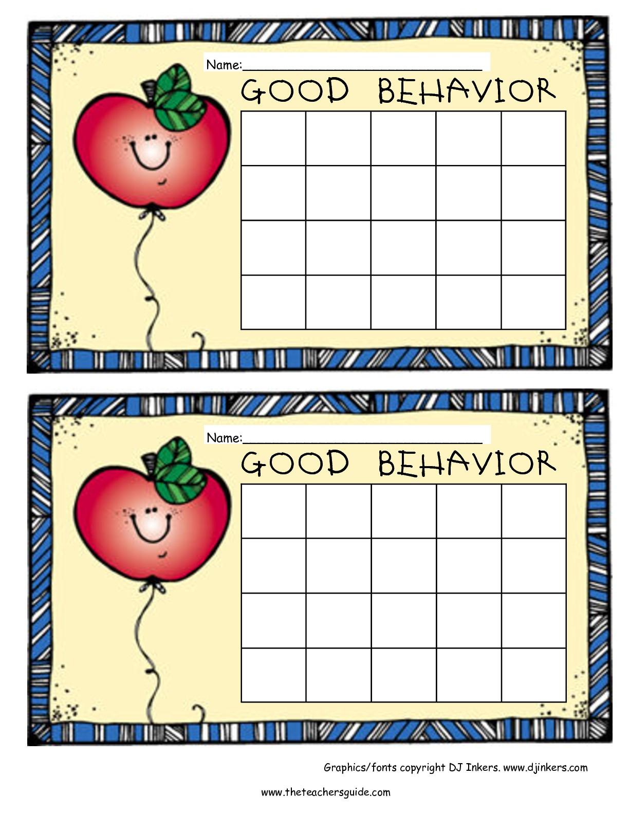 Free Printable Reward And Incentive Charts inside Free Printable Blank Behavior Charts
