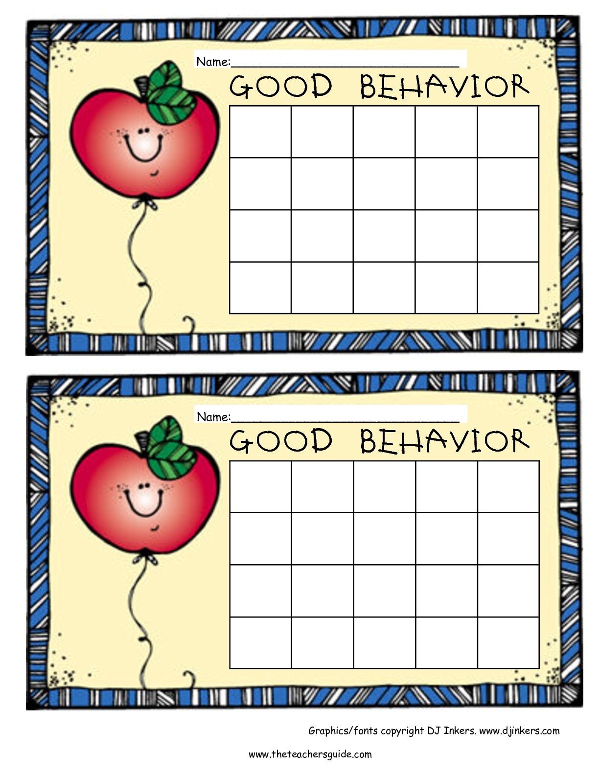 Free Printable Reward And Incentive Charts pertaining to Free Printable Behavior Chart Templates