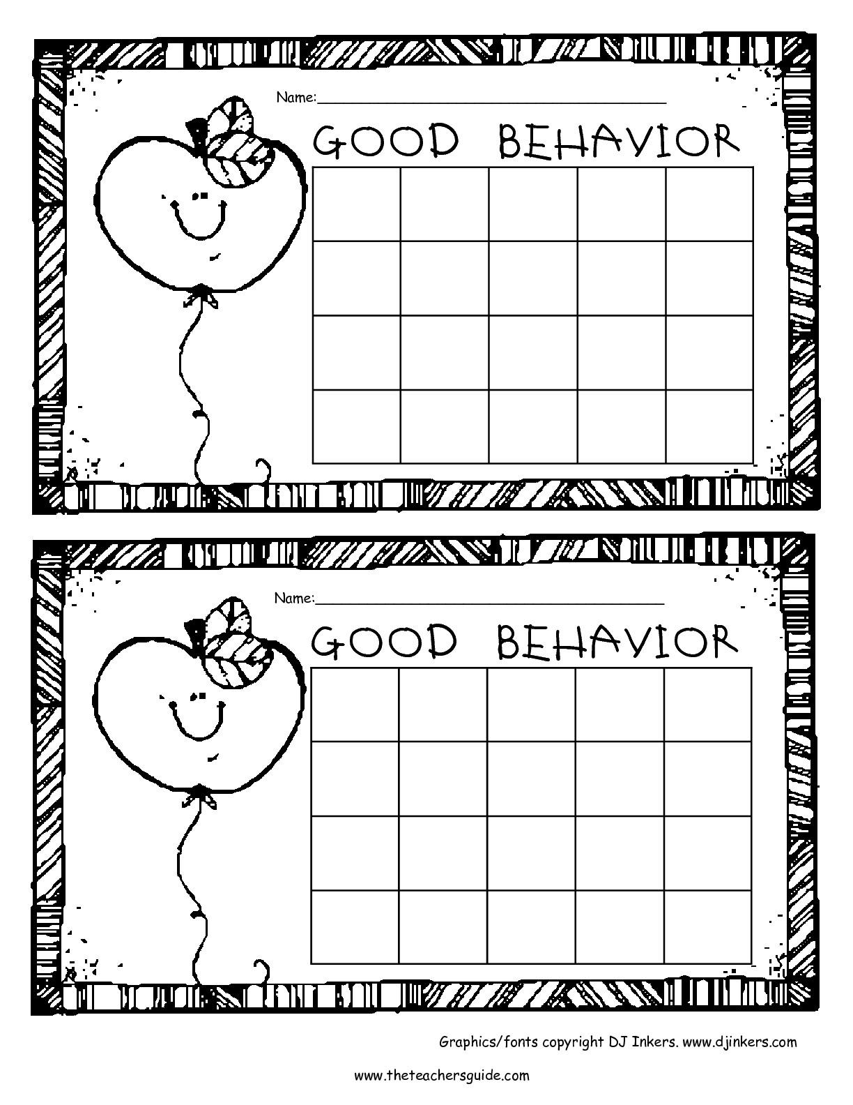 Free Printable Reward And Incentive Charts throughout Free Printable Behavior Chart Templates