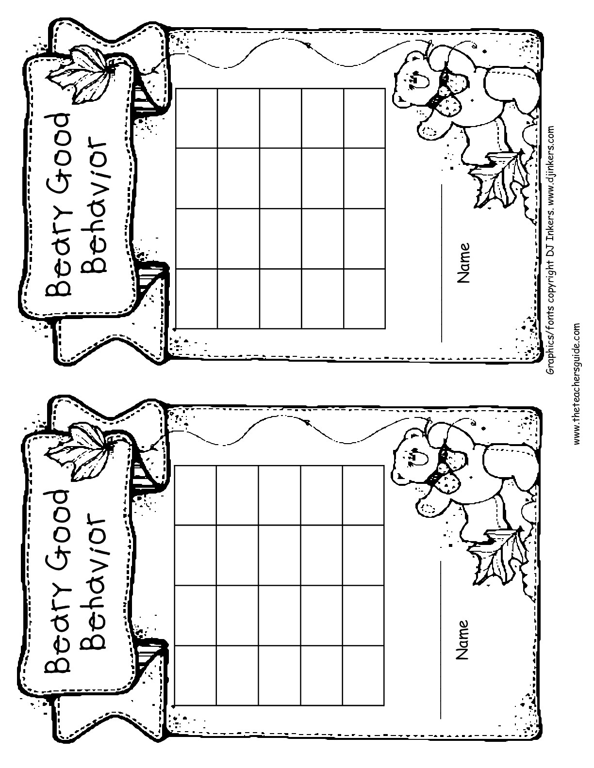 Free Printable Reward And Incentive Charts within Behavior Charts For Kids Templates