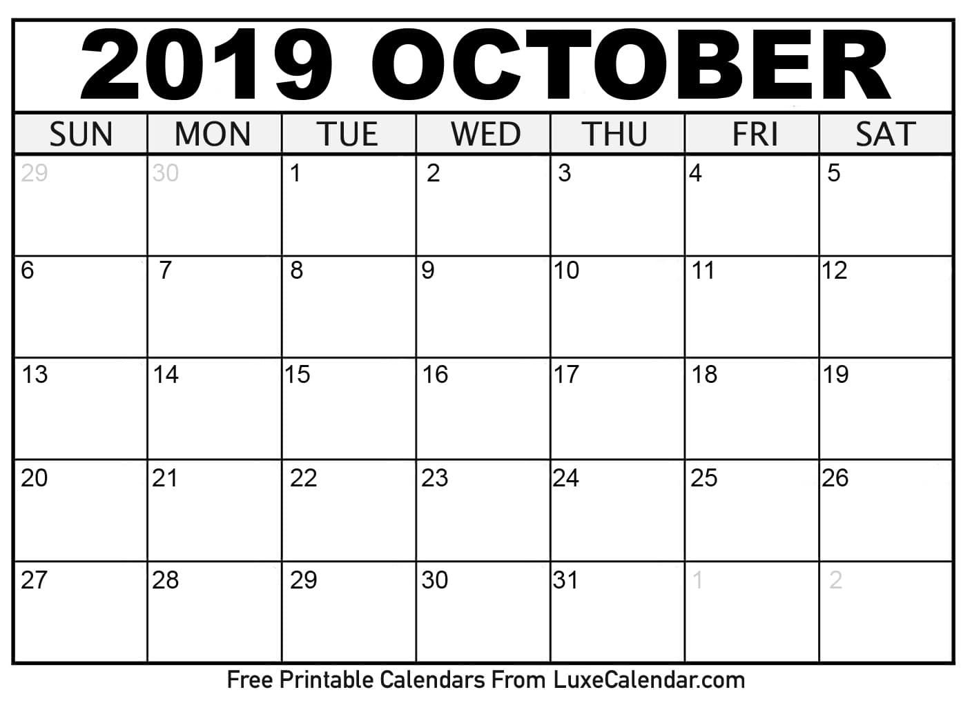Free Printable Scary October Calendar 2019 | Calendar Format Example throughout Free Printable Scary October Calendar 2019