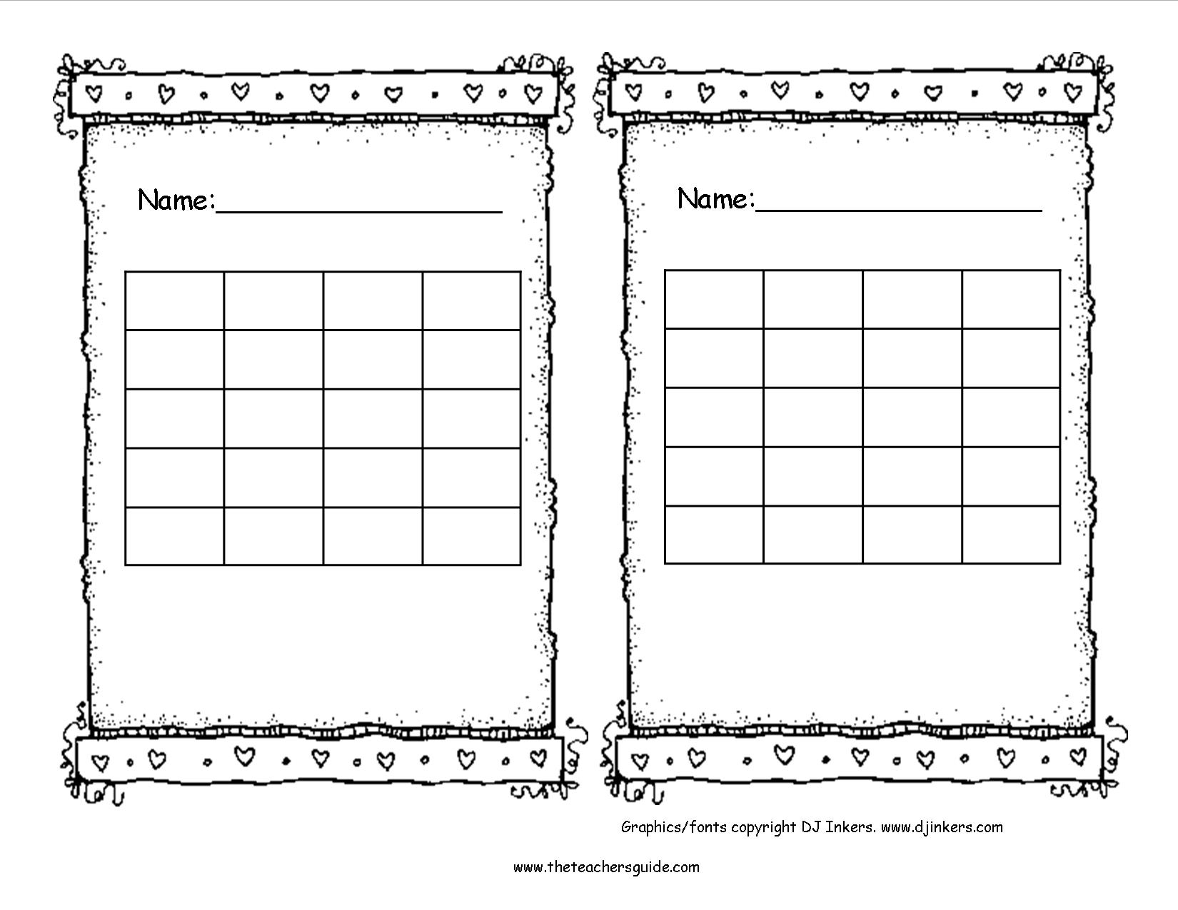 Free Printable Sticker Chart | Room Surf pertaining to Free Printable Blank Behavior Charts