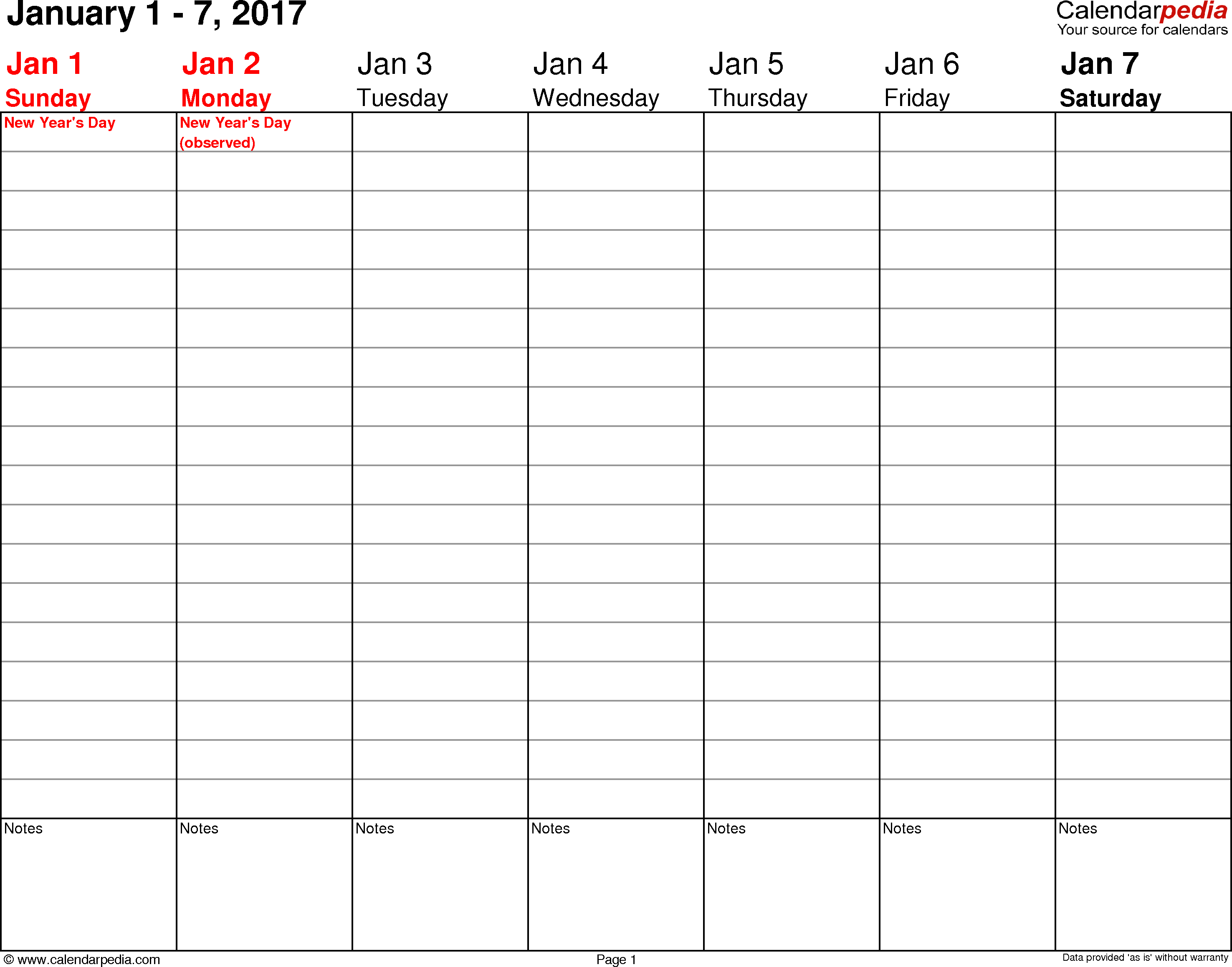 Free Printable Weekly Planner 2017 | Room Surf for Daily Planner Template Printable Free