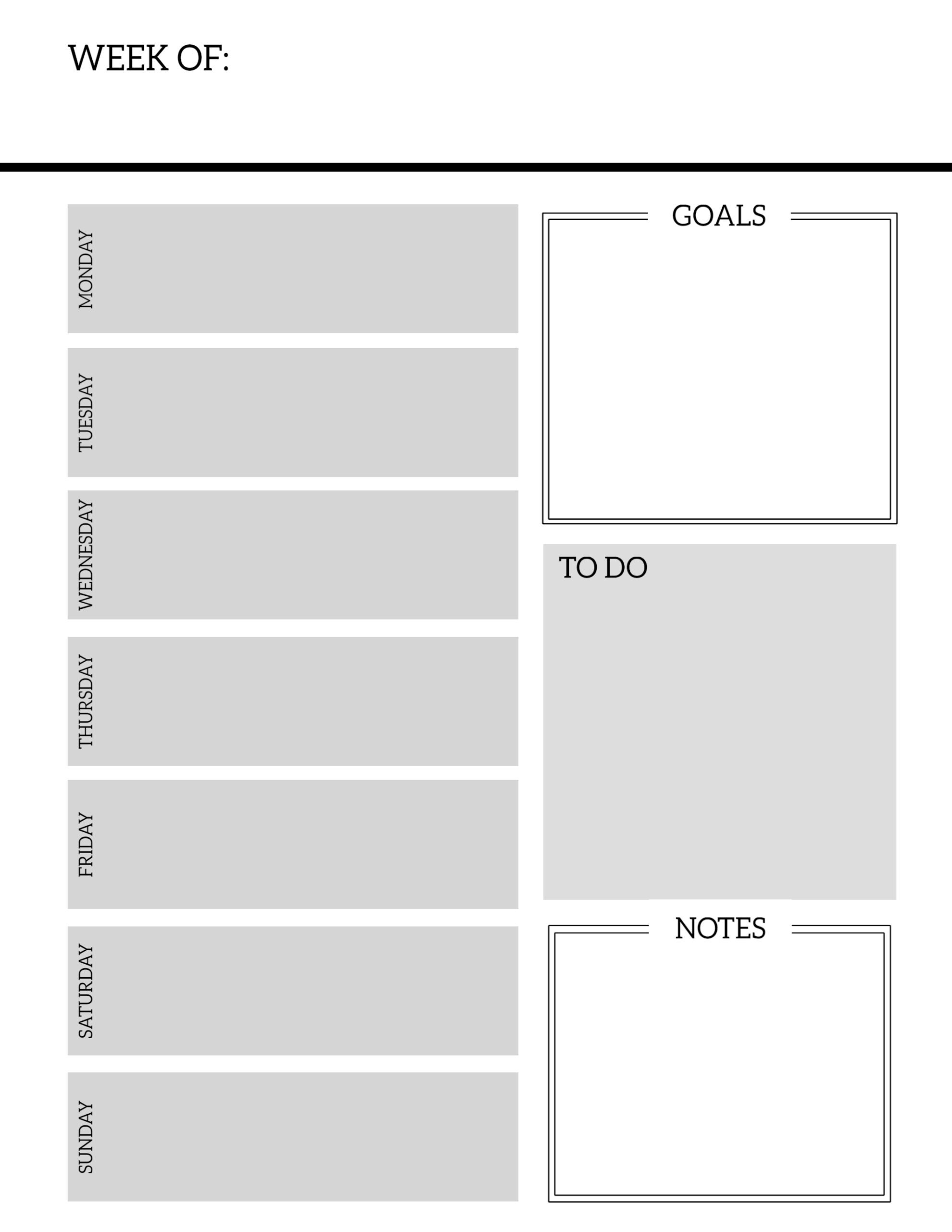 Free Printable Weekly Planner Pages - Paper Trail Design with regard to Blank Planner Weekly Planner