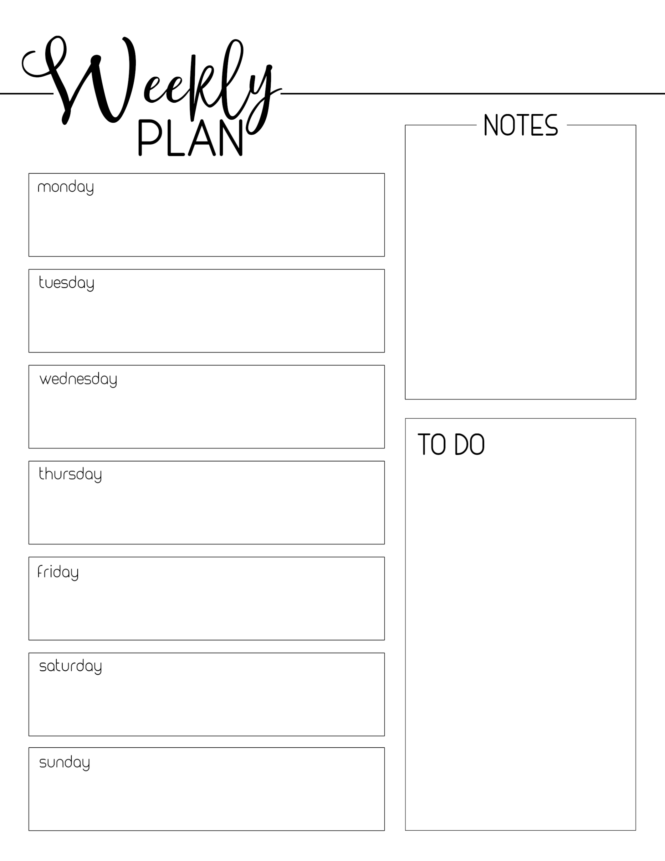Free Printable Weekly Planner Template Schedule Paper Trail Design pertaining to Weekly Schedule Template Free To Print
