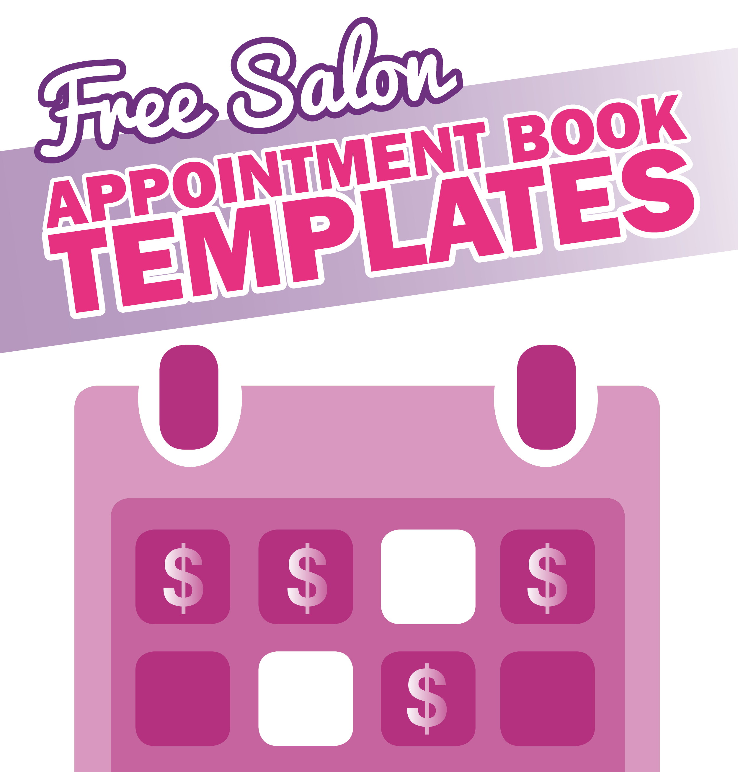 Free Salon Appointment Book Template - Worldwide Salon Marketing with Hair Appointment Schedule Template