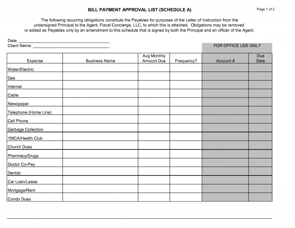 Free Thly Schedule Template Bill Payment Templates Sheets Impressive within Bill Payment Calendar Template Printable
