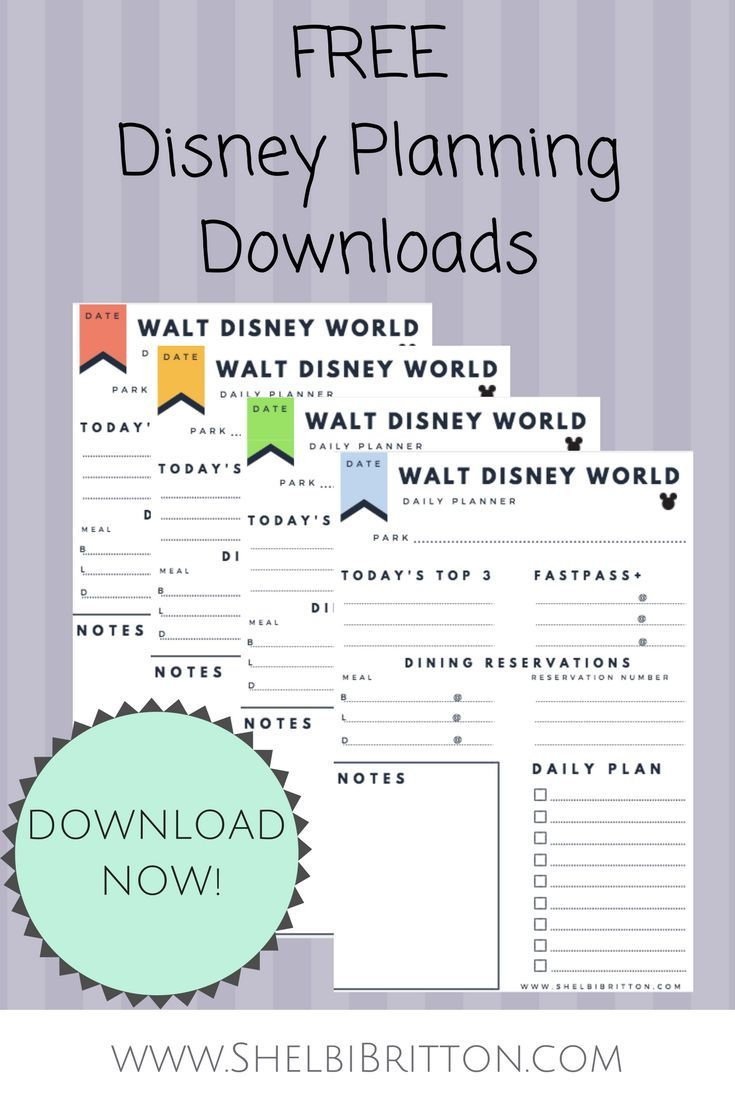 Free Walt Disney World Vacation Planning Printables! Download These for Disney World Itinerary Template Blank