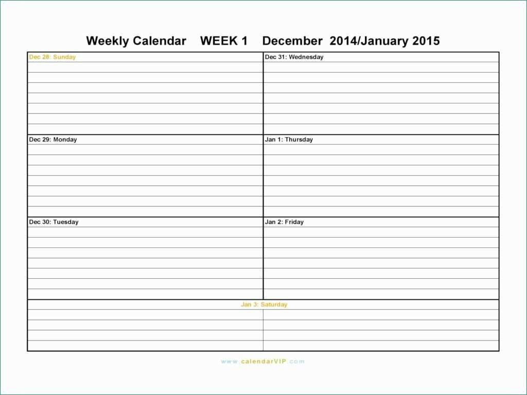 Free Weekly Calendar E Schedule Word Printable Excel   Smorad regarding Calendar Planner Template Excel December