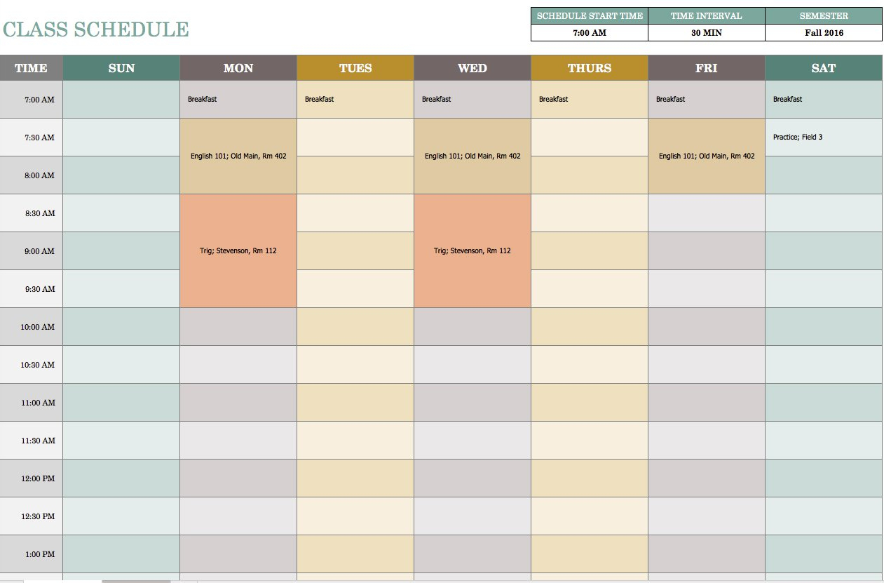 Free Weekly Schedule Templates For Excel - Smartsheet throughout Excel Weekly Calendar Template