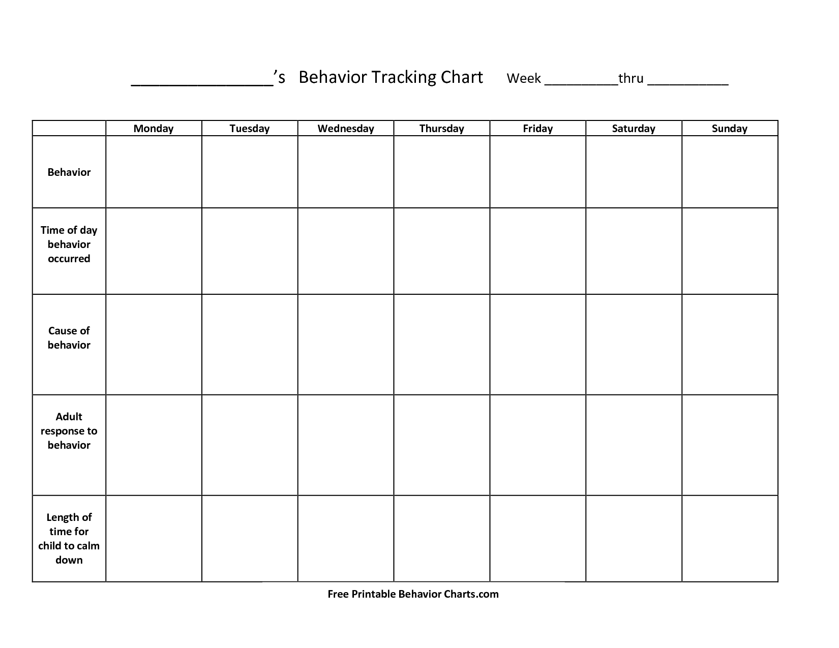 Free+Printable+Behavior+Charts+For+Teachers | Things To Try | Reward pertaining to Free Printable Blank Behavior Charts
