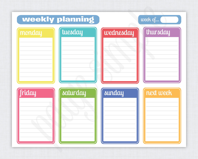 Free+Printable+Weekly+Planner | Planner | Weekly Planner Printable in Free Printable Weekly Schedule Template