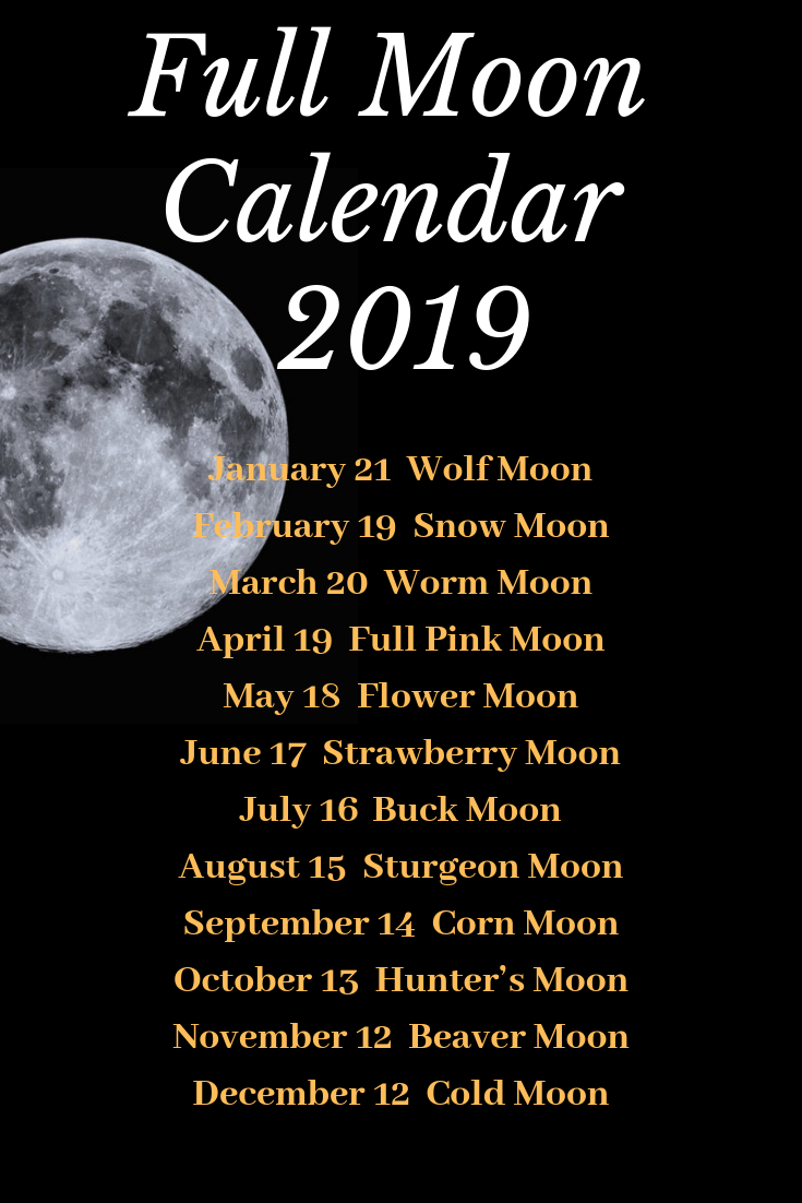 Full Moon Calendar 2019!mad Witch Supplies | #witchvibes | Moon pertaining to Full Moon Calendar 2019 October