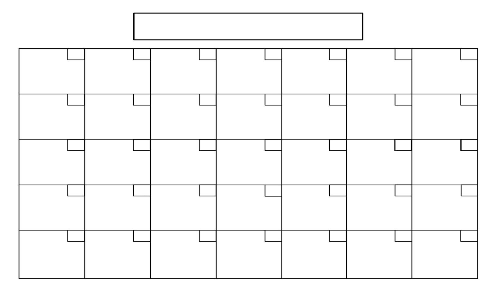 Full Size Blank Printable Calendar - Calendar Inspiration Design regarding Full Size Blank Printable Calendar