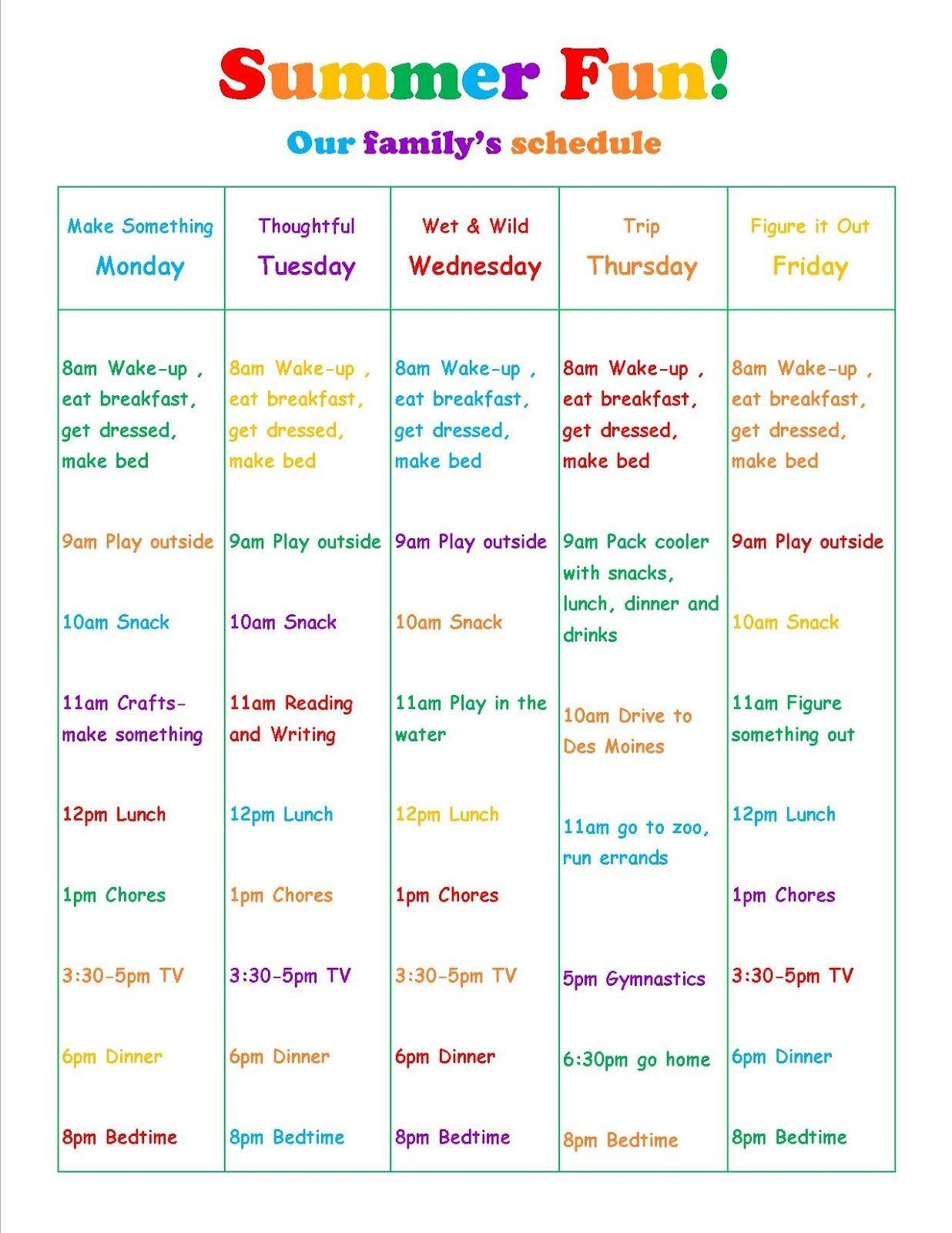 Fun Activity Calendar Template Print For Complimentary - Calendaro in Summer Activity Calendar Template