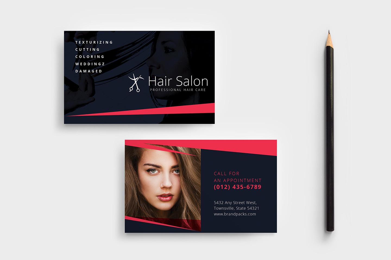 Hair Salon Business Card Template In Psd, Ai & Vector - Brandpacks regarding Hair Appointment Schedule Template