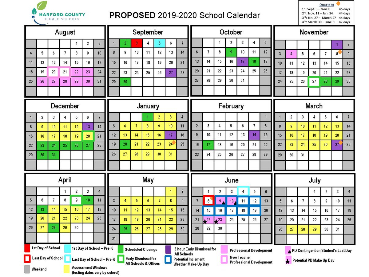 """Hcps On Twitter: """"the Proposed 2019-2020 School Calendar Was throughout Year At A Glance 2019-2020 School Calendar"""