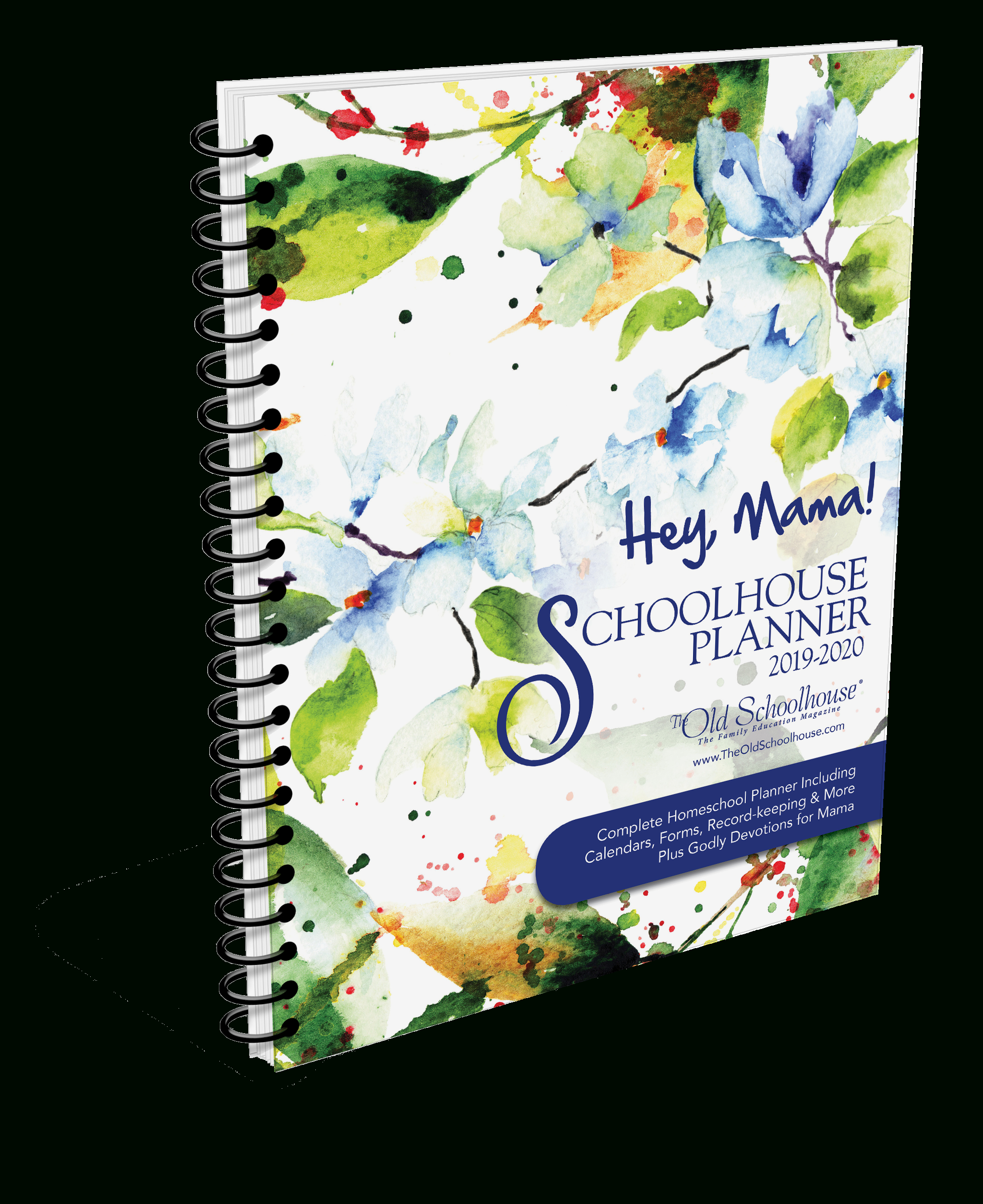Hey, Mama! Homeschool Planner For 2019/20 Year intended for Homeschool Year At A Glance 2019-2020 Botanical Calendar Printable Free