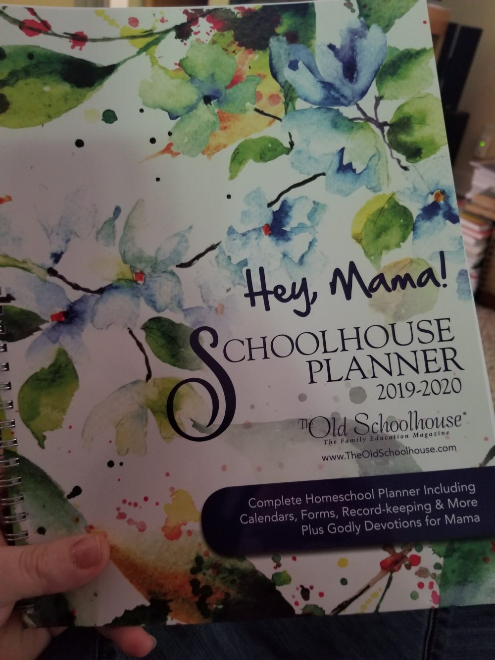 Hey, Mama! Homeschool Planner For 2019/20 Year {Review} ⋆ Creative for Homeschool Year At A Glance 2019-2020 Botanical Calendar Printable Free