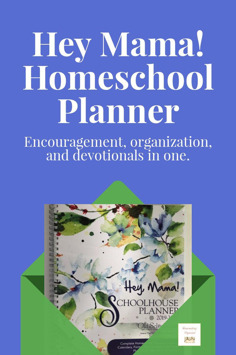Hey Mama Homeschool Planner Review - Homemaking Organized for Homeschool Year At A Glance 2019-2020 Botanical Calendar Printable Free