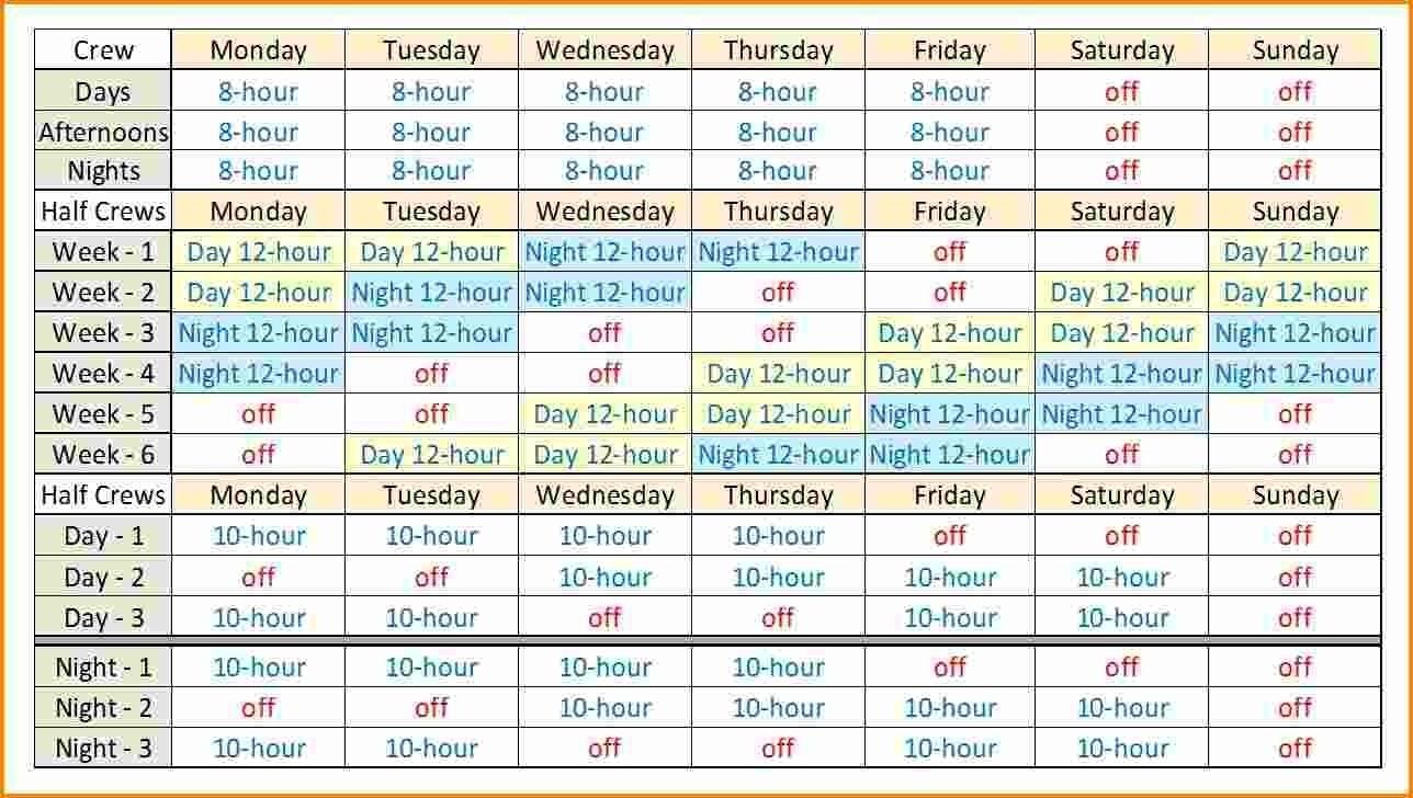 Hour Shift Schedules Template Excel E2 80 93 Calendar Printable in 12 Hour Shift Schedules Template Excel