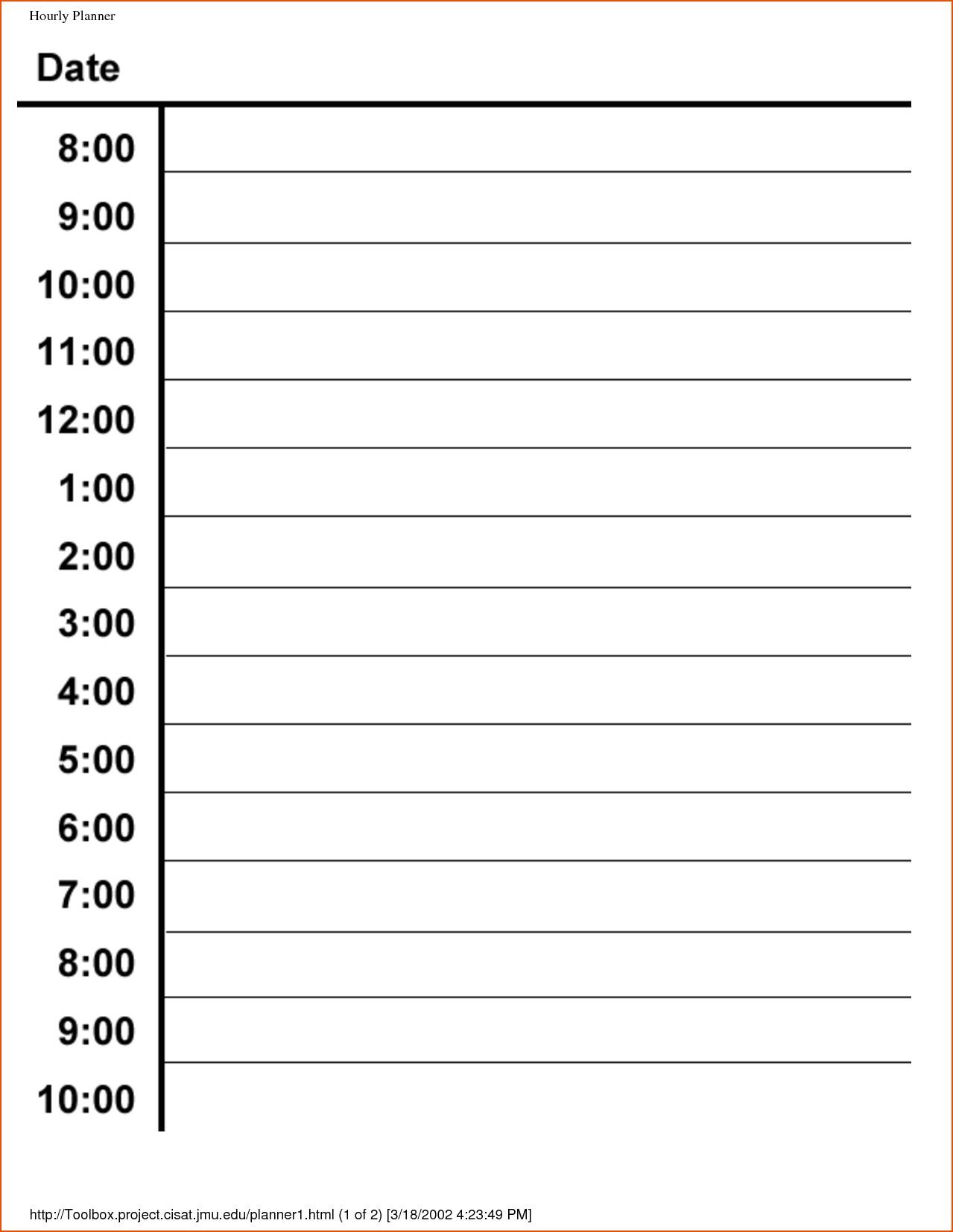 Hourly Appointment Calendar | Thekpark-Hadong regarding Blank Calendar Hourly Schedule