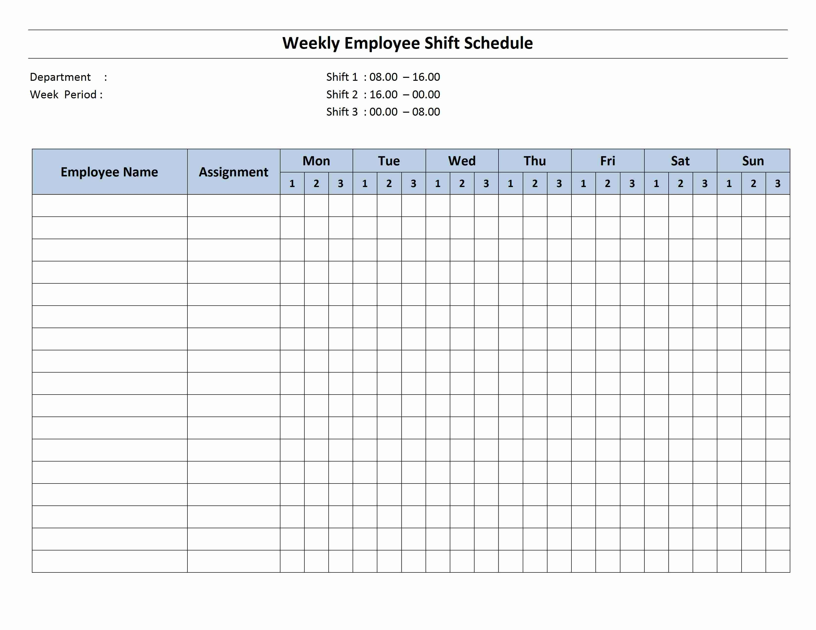 Hours Schedule Template - Infer.ifreezer.co for Free Printable Weekly Schedule Template