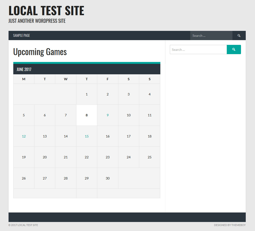 How To Add An Event Calendar & Upcoming Games To A Sports Team Site pertaining to Football Theme Blank Dates Calendar
